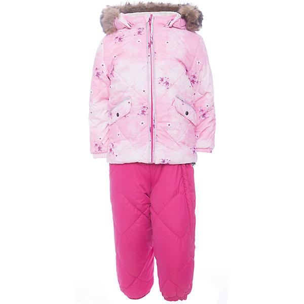 Комплект: куртка и брюки NOELLE 1 Huppa для девочкиВерхняя одежда<br>Характеристики товара:<br><br>• модель: Noelle 1;<br>• состав: 100% полиэстер;<br>• утеплитель: полиэстер, 300 гр куртка / 160гр брюки;<br>• подкладка: куртка: полиэстер - тафта / полукомбинезон: 100% хлопок - фланель;<br>• сезон: зима;<br>• температурный режим: от -5 до - 30С;<br>• водонепроницаемость: 5000 мм  ;<br>• воздухопроницаемость: 5000 г/м2/24ч;<br>• водо- и ветронепроницаемый, дышащий и грязеотталкивающий материал;<br>• особенности модели: c рисунком; с мехом;<br>• капюшон при необходимости отстегивается;<br>• искусственный мех на капюшоне съемный ;<br>• защита подбородка от защемления;<br>• светоотражающих элементов для безопасности ребенка ;<br>• карманы на кнопках;<br>• манжеты рукавов на резинке; <br>• манжеты брюк на резинках;<br>• съемные силиконовые штрипки;<br>• внутренняя регулировка обхвата талии;<br>• страна бренда: Финляндия;<br>• страна изготовитель: Эстония.<br><br>Зимний комплект Noelle 1 для девочки бренда HUPPA влагонепроницаемый и дышащий. Куртка с утеплителем 300 гр и брюки с утеплителем 160 гр подойдут на температуру от -5 до -30 градусов. Подкладка —фланель - 100% хлопок,тафта.<br><br>Функциональные элементы: Куртка: капюшон отстегивается с помощью кнопок, мех отстегивается, защита подбородка от защемления, мягкая меховая подкладка, карманы на кнопках, манжеты на резинке, светоотражающие элементы. Брюки: регулируемые лямки, удлиненная косая молния, карман без застежек, подол штанин на резинке, съемные силиконовые штрипки, светоотражающие элементы. <br><br>Зимний комплект Noelle 1 для девочки бренда HUPPA  можно купить в нашем интернет-магазине.<br><br>Ширина мм: 356<br>Глубина мм: 10<br>Высота мм: 245<br>Вес г: 519<br>Цвет: розовый<br>Возраст от месяцев: 12<br>Возраст до месяцев: 15<br>Пол: Женский<br>Возраст: Детский<br>Размер: 80,104,98,92,86<br>SKU: 7024646