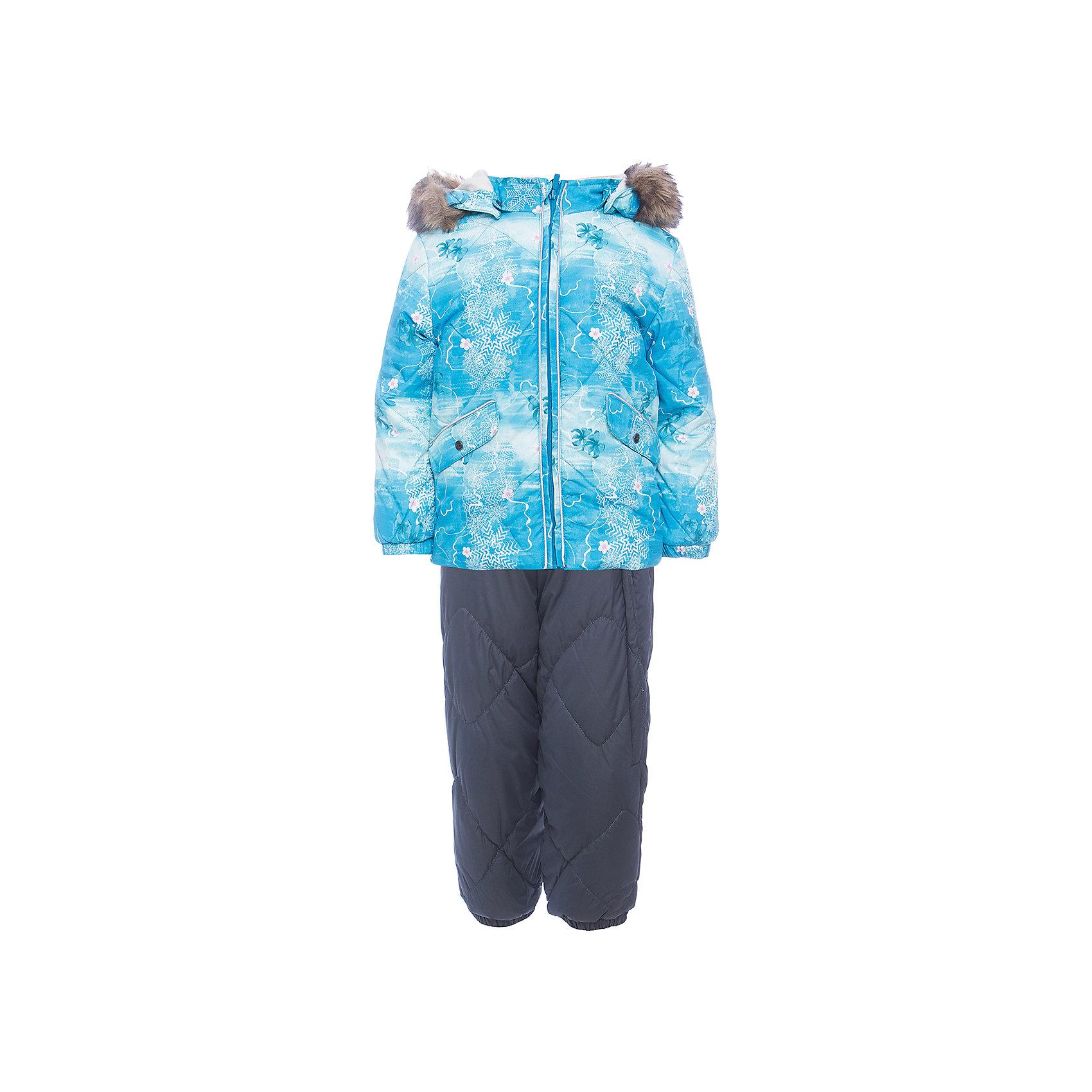 Комплект: куртка и брюки NOELLE 1 HuppaКомплекты<br>Характеристики товара:<br><br>• модель: Noelle 1;<br>• цвет:  голубой/серый;<br>• состав: 100% полиэстер;<br>• утеплитель: полиэстер, 300 гр куртка / 160гр брюки;<br>• подкладка: куртка: полиэстер - тафта / полукомбинезон: 100% хлопок - фланель;<br>• сезон: зима;<br>• температурный режим: от -5 до - 30С;<br>• водонепроницаемость: 5000 мм  ;<br>• воздухопроницаемость: 5000 г/м2/24ч;<br>• водо- и ветронепроницаемый, дышащий и грязеотталкивающий материал;<br>• особенности модели: c рисунком; с мехом;<br>• капюшон при необходимости отстегивается;<br>• искусственный мех на капюшоне съемный ;<br>• защита подбородка от защемления;<br>• светоотражающих элементов для безопасности ребенка ;<br>• карманы на кнопках;<br>• манжеты рукавов на резинке; <br>• манжеты брюк на резинках;<br>• съемные силиконовые штрипки;<br>• внутренняя регулировка обхвата талии;<br>• страна бренда: Финляндия;<br>• страна изготовитель: Эстония.<br><br>Зимний комплект Noelle 1 для девочки бренда HUPPA влагонепроницаемый и дышащий. Куртка с утеплителем 300 гр и брюки с утеплителем 160 гр подойдут на температуру от -5 до -30 градусов. Подкладка —фланель - 100% хлопок,тафта.<br><br>Функциональные элементы: Куртка: капюшон отстегивается с помощью кнопок, мех отстегивается, защита подбородка от защемления, мягкая меховая подкладка, карманы на кнопках, манжеты на резинке, светоотражающие элементы. Брюки: регулируемые лямки, удлиненная косая молния, карман без застежек, подол штанин на резинке, съемные силиконовые штрипки, светоотражающие элементы. <br><br>Зимний комплект Noelle 1 для девочки бренда HUPPA  можно купить в нашем интернет-магазине.<br><br>Ширина мм: 356<br>Глубина мм: 10<br>Высота мм: 245<br>Вес г: 519<br>Цвет: голубой<br>Возраст от месяцев: 36<br>Возраст до месяцев: 48<br>Пол: Унисекс<br>Возраст: Детский<br>Размер: 104,80,86,92,98<br>SKU: 7024652