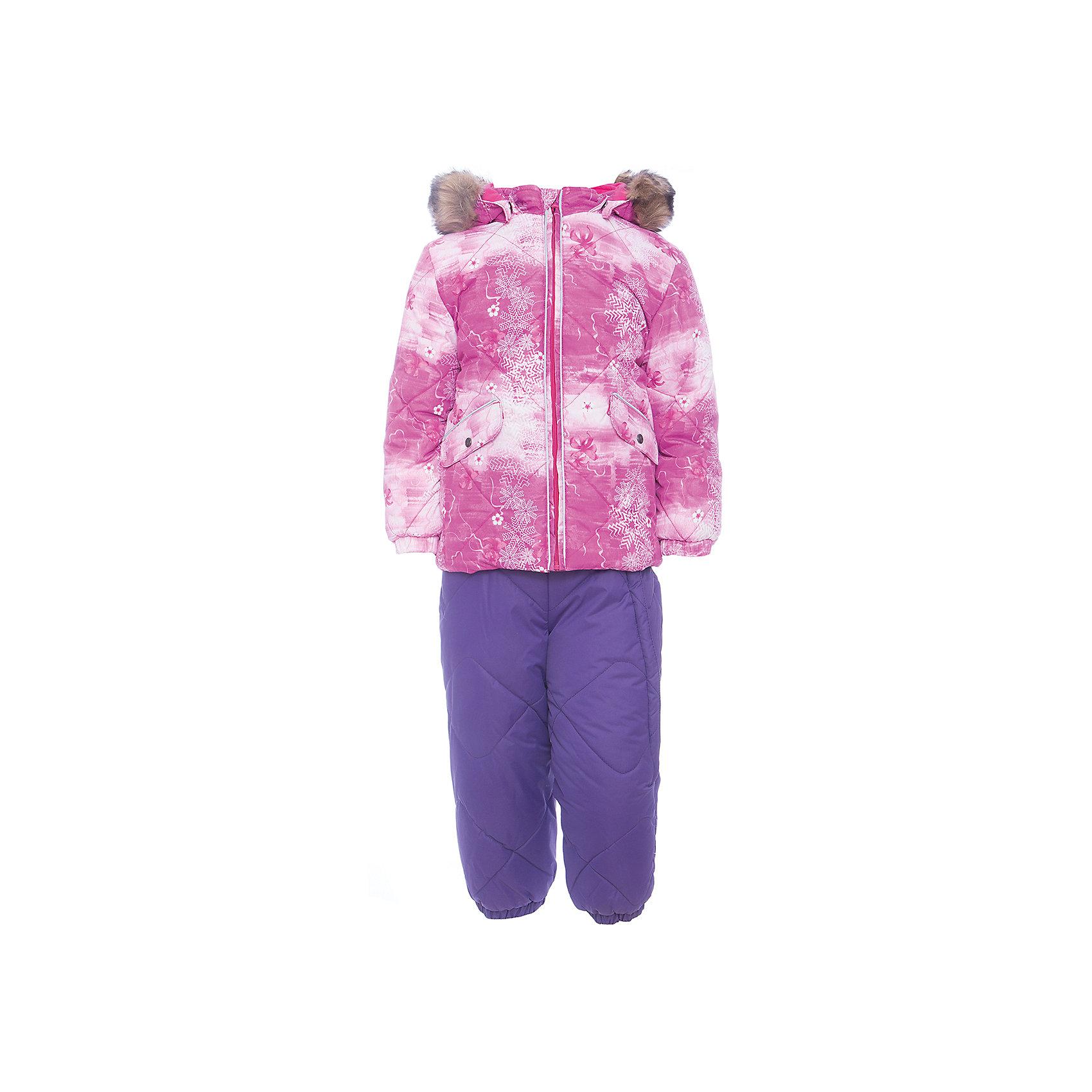 Комплект: куртка и брюки NOELLE 1 HuppaВерхняя одежда<br>Характеристики товара:<br><br>• модель: Noelle 1;<br>• цвет: фуксия принт/ фиолетовый;<br>• пол: девочка ;<br>• состав: 100% полиэстер;<br>• утеплитель: полиэстер, 300 гр куртка / 160гр брюки;<br>• подкладка: куртка: полиэстер - тафта / полукомбинезон: 100% хлопок - фланель;<br>• сезон: зима;<br>• температурный режим: от -5 до - 30С;<br>• водонепроницаемость: 5000 мм  ;<br>• воздухопроницаемость: 5000 г/м2/24ч;<br>• водо- и ветронепроницаемый, дышащий и грязеотталкивающий материал;<br>• особенности модели: c рисунком; с мехом;<br>• капюшон при необходимости отстегивается;<br>• искусственный мех на капюшоне съемный ;<br>• защита подбородка от защемления;<br>• светоотражающих элементов для безопасности ребенка ;<br>• карманы на кнопках;<br>• манжеты рукавов на резинке; <br>• манжеты брюк на резинках;<br>• съемные силиконовые штрипки;<br>• внутренняя регулировка обхвата талии;<br>• страна бренда: Финляндия;<br>• страна изготовитель: Эстония.<br><br>Зимний комплект Noelle 1 для девочки бренда HUPPA влагонепроницаемый и дышащий. Куртка с утеплителем 300 гр и брюки с утеплителем 160 гр подойдут на температуру от -5 до -30 градусов. Подкладка —фланель - 100% хлопок,тафта.<br><br>Функциональные элементы: Куртка: капюшон отстегивается с помощью кнопок, мех отстегивается, защита подбородка от защемления, мягкая меховая подкладка, карманы на кнопках, манжеты на резинке, светоотражающие элементы. Брюки: регулируемые лямки, удлиненная косая молния, карман без застежек, подол штанин на резинке, съемные силиконовые штрипки, светоотражающие элементы. <br><br>Зимний комплект Noelle 1 для девочки бренда HUPPA  можно купить в нашем интернет-магазине.<br><br>Ширина мм: 356<br>Глубина мм: 10<br>Высота мм: 245<br>Вес г: 519<br>Цвет: фуксия<br>Возраст от месяцев: 36<br>Возраст до месяцев: 48<br>Пол: Унисекс<br>Возраст: Детский<br>Размер: 104,80,86,92,98<br>SKU: 7024664