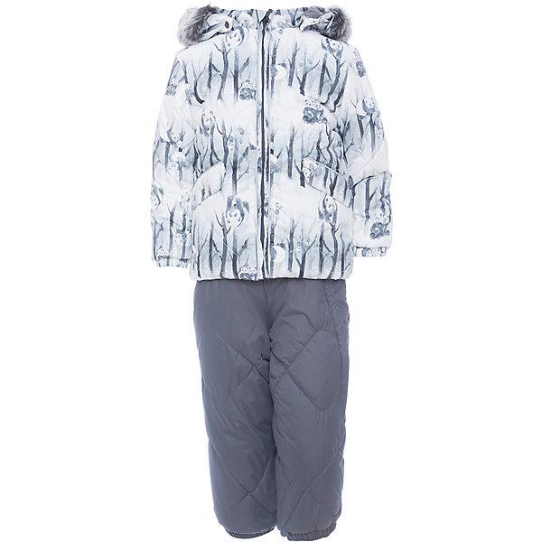Комплект: куртка и брюки NOELLE 1 HuppaКомплекты<br>Характеристики товара:<br><br>• модель: Noelle 1;<br>• цвет:белый принт/серый;<br>• пол: мальчик;<br>• состав: 100% полиэстер;<br>• утеплитель: полиэстер, 300 гр куртка / 160гр брюки;<br>• подкладка: куртка: полиэстер - тафта / полукомбинезон: 100% хлопок - фланель;<br>• сезон: зима;<br>• температурный режим: от -5 до - 30С;<br>• водонепроницаемость: 5000 мм  ;<br>• воздухопроницаемость: 5000 г/м2/24ч;<br>• водо- и ветронепроницаемый, дышащий и грязеотталкивающий материал;<br>• особенности модели: c рисунком; с мехом;<br>• капюшон при необходимости отстегивается;<br>• искусственный мех на капюшоне съемный ;<br>• защита подбородка от защемления;<br>• светоотражающих элементов для безопасности ребенка ;<br>• карманы на кнопках;<br>• манжеты рукавов на резинке; <br>• манжеты брюк на резинках;<br>• съемные силиконовые штрипки;<br>• внутренняя регулировка обхвата талии;<br>• страна бренда: Финляндия;<br>• страна изготовитель: Эстония.<br><br>Зимний комплект Noelle 1 для мальчика бренда HUPPA влагонепроницаемый и дышащий. Куртка с утеплителем 300 гр и брюки с утеплителем 160 гр подойдут на температуру от -5 до -30 градусов. Подкладка —фланель - 100% хлопок,тафта.<br><br>Функциональные элементы: Куртка: капюшон отстегивается с помощью кнопок, мех отстегивается, защита подбородка от защемления, мягкая меховая подкладка, карманы на кнопках, манжеты на резинке, светоотражающие элементы. Брюки: регулируемые лямки, удлиненная косая молния, карман без застежек, подол штанин на резинке, съемные силиконовые штрипки, светоотражающие элементы. <br><br>Зимний комплект Noelle 1 для мальчика бренда HUPPA  можно купить в нашем интернет-магазине.<br><br>Ширина мм: 356<br>Глубина мм: 10<br>Высота мм: 245<br>Вес г: 519<br>Цвет: белый/серый<br>Возраст от месяцев: 6<br>Возраст до месяцев: 9<br>Пол: Унисекс<br>Возраст: Детский<br>Размер: 74,104,80,86,92,98<br>SKU: 7024670