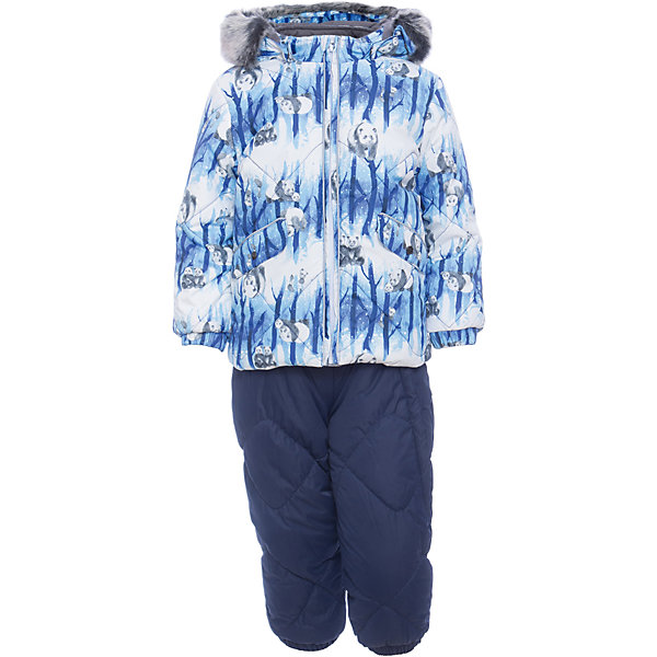 Комплект: куртка и брюки NOELLE 1 Huppa для мальчикаВерхняя одежда<br>Характеристики товара:<br><br>• модель: Noelle 1;<br>• цвет: синий;<br>• состав: 100% полиэстер;<br>• утеплитель: полиэстер, 300 гр куртка / 160гр брюки;<br>• подкладка: куртка: полиэстер - тафта / полукомбинезон: 100% хлопок - фланель;<br>• сезон: зима;<br>• температурный режим: от -5 до - 30С;<br>• водонепроницаемость: 5000 мм  ;<br>• воздухопроницаемость: 5000 г/м2/24ч;<br>• водо- и ветронепроницаемый, дышащий и грязеотталкивающий материал;<br>• особенности модели: c рисунком; с мехом;<br>• капюшон при необходимости отстегивается;<br>• искусственный мех на капюшоне съемный ;<br>• защита подбородка от защемления;<br>• светоотражающих элементов для безопасности ребенка ;<br>• карманы на кнопках;<br>• манжеты рукавов на резинке; <br>• манжеты брюк на резинках;<br>• съемные силиконовые штрипки;<br>• внутренняя регулировка обхвата талии;<br>• страна бренда: Финляндия;<br>• страна изготовитель: Эстония.<br><br>Зимний комплект Noelle 1 бренда HUPPA влагонепроницаемый и дышащий. Куртка с утеплителем 300 гр и брюки с утеплителем 160 гр подойдут на температуру от -5 до -30 градусов. Подкладка —фланель - 100% хлопок,тафта.<br><br>Функциональные элементы: Куртка: капюшон отстегивается с помощью кнопок, мех отстегивается, защита подбородка от защемления, мягкая меховая подкладка, карманы на кнопках, манжеты на резинке, светоотражающие элементы. Брюки: регулируемые лямки, удлиненная косая молния, карман без застежек, подол штанин на резинке, съемные силиконовые штрипки, светоотражающие элементы. <br><br>Зимний комплект Noelle 1 бренда HUPPA  можно купить в нашем интернет-магазине.<br><br>Ширина мм: 356<br>Глубина мм: 10<br>Высота мм: 245<br>Вес г: 519<br>Цвет: синий<br>Возраст от месяцев: 36<br>Возраст до месяцев: 48<br>Пол: Мужской<br>Возраст: Детский<br>Размер: 104,74,80,86,92,98<br>SKU: 7024677