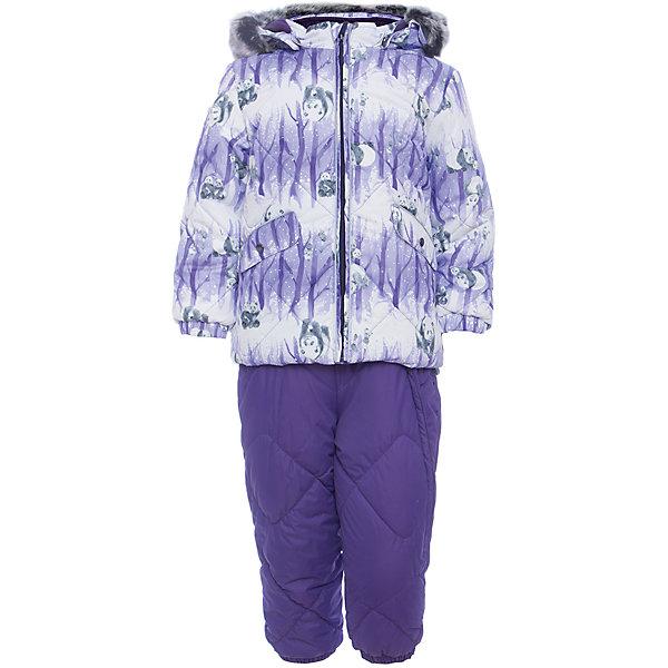 Комплект: куртка и брюки NOELLE 1 Huppa для девочкиВерхняя одежда<br>Характеристики товара:<br><br>• модель: Noelle 1;<br>• цвет: фиолетовый;<br>• состав: 100% полиэстер;<br>• утеплитель: полиэстер, 300 гр куртка / 160гр брюки;<br>• подкладка: куртка: полиэстер - тафта / полукомбинезон: 100% хлопок - фланель;<br>• сезон: зима;<br>• температурный режим: от -5 до - 30С;<br>• водонепроницаемость: 5000 мм  ;<br>• воздухопроницаемость: 5000 г/м2/24ч;<br>• водо- и ветронепроницаемый, дышащий и грязеотталкивающий материал;<br>• особенности модели: c рисунком; с мехом;<br>• капюшон при необходимости отстегивается;<br>• искусственный мех на капюшоне съемный ;<br>• защита подбородка от защемления;<br>• светоотражающих элементов для безопасности ребенка ;<br>• карманы на кнопках;<br>• манжеты рукавов на резинке; <br>• манжеты брюк на резинках;<br>• съемные силиконовые штрипки;<br>• внутренняя регулировка обхвата талии;<br>• страна бренда: Финляндия;<br>• страна изготовитель: Эстония.<br><br>Зимний комплект Noelle 1 для девочки бренда HUPPA влагонепроницаемый и дышащий. Куртка с утеплителем 300 гр и брюки с утеплителем 160 гр подойдут на температуру от -5 до -30 градусов. Подкладка —фланель - 100% хлопок,тафта.<br><br>Функциональные элементы: Куртка: капюшон отстегивается с помощью кнопок, мех отстегивается, защита подбородка от защемления, мягкая меховая подкладка, карманы на кнопках, манжеты на резинке, светоотражающие элементы. Брюки: регулируемые лямки, удлиненная косая молния, карман без застежек, подол штанин на резинке, съемные силиконовые штрипки, светоотражающие элементы. <br><br>Зимний комплект Noelle 1 для девочки бренда HUPPA  можно купить в нашем интернет-магазине.<br>Ширина мм: 356; Глубина мм: 10; Высота мм: 245; Вес г: 519; Цвет: лиловый; Возраст от месяцев: 36; Возраст до месяцев: 48; Пол: Женский; Возраст: Детский; Размер: 104,80,98,92,86; SKU: 7024684;