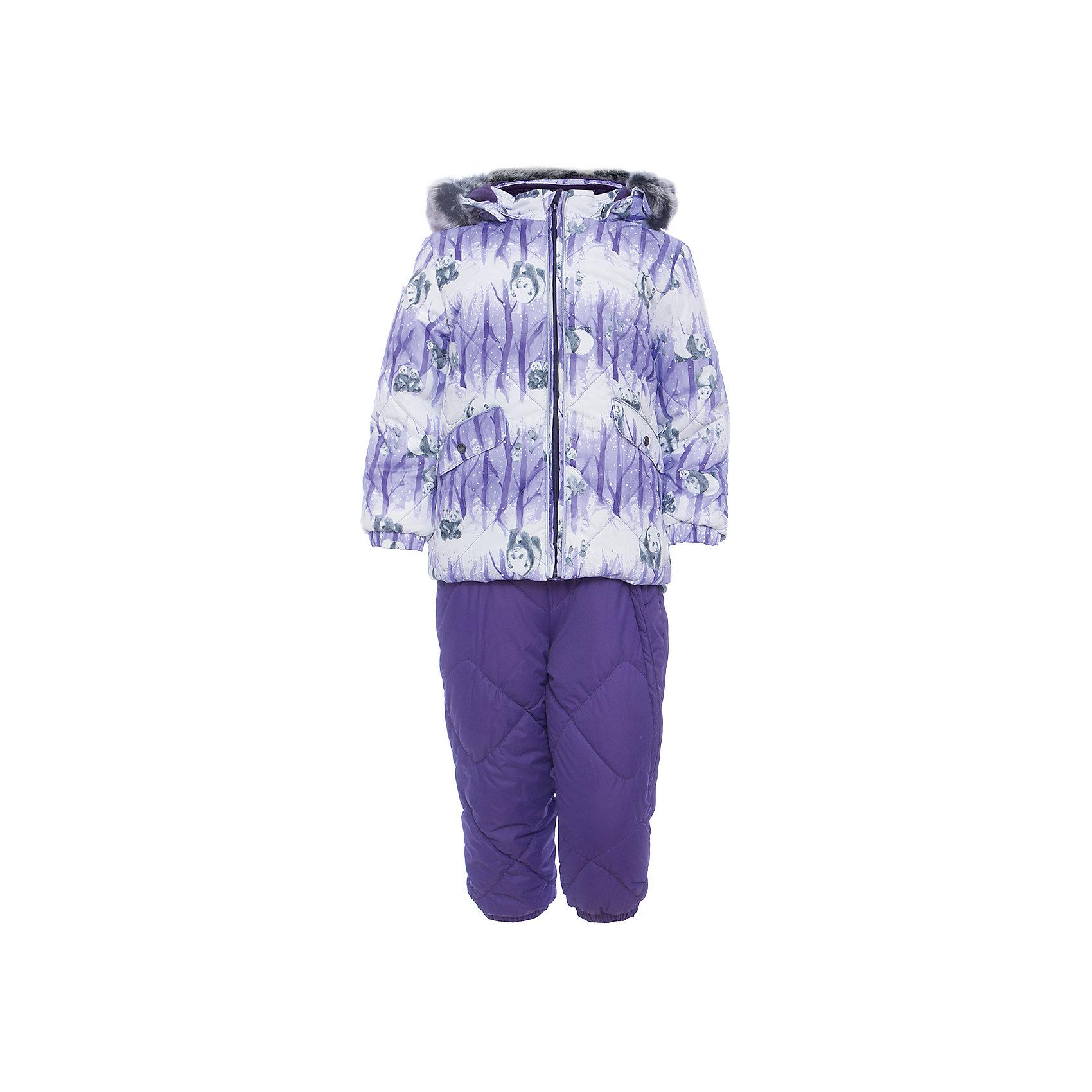 Комплект: куртка и брюки NOELLE 1 HuppaКомплекты<br>Характеристики товара:<br><br>• модель: Noelle 1;<br>• цвет: фиолетовый;<br>• состав: 100% полиэстер;<br>• утеплитель: полиэстер, 300 гр куртка / 160гр брюки;<br>• подкладка: куртка: полиэстер - тафта / полукомбинезон: 100% хлопок - фланель;<br>• сезон: зима;<br>• температурный режим: от -5 до - 30С;<br>• водонепроницаемость: 5000 мм  ;<br>• воздухопроницаемость: 5000 г/м2/24ч;<br>• водо- и ветронепроницаемый, дышащий и грязеотталкивающий материал;<br>• особенности модели: c рисунком; с мехом;<br>• капюшон при необходимости отстегивается;<br>• искусственный мех на капюшоне съемный ;<br>• защита подбородка от защемления;<br>• светоотражающих элементов для безопасности ребенка ;<br>• карманы на кнопках;<br>• манжеты рукавов на резинке; <br>• манжеты брюк на резинках;<br>• съемные силиконовые штрипки;<br>• внутренняя регулировка обхвата талии;<br>• страна бренда: Финляндия;<br>• страна изготовитель: Эстония.<br><br>Зимний комплект Noelle 1 для девочки бренда HUPPA влагонепроницаемый и дышащий. Куртка с утеплителем 300 гр и брюки с утеплителем 160 гр подойдут на температуру от -5 до -30 градусов. Подкладка —фланель - 100% хлопок,тафта.<br><br>Функциональные элементы: Куртка: капюшон отстегивается с помощью кнопок, мех отстегивается, защита подбородка от защемления, мягкая меховая подкладка, карманы на кнопках, манжеты на резинке, светоотражающие элементы. Брюки: регулируемые лямки, удлиненная косая молния, карман без застежек, подол штанин на резинке, съемные силиконовые штрипки, светоотражающие элементы. <br><br>Зимний комплект Noelle 1 для девочки бренда HUPPA  можно купить в нашем интернет-магазине.<br><br>Ширина мм: 356<br>Глубина мм: 10<br>Высота мм: 245<br>Вес г: 519<br>Цвет: лиловый<br>Возраст от месяцев: 36<br>Возраст до месяцев: 48<br>Пол: Унисекс<br>Возраст: Детский<br>Размер: 104,80,86,92,98<br>SKU: 7024684