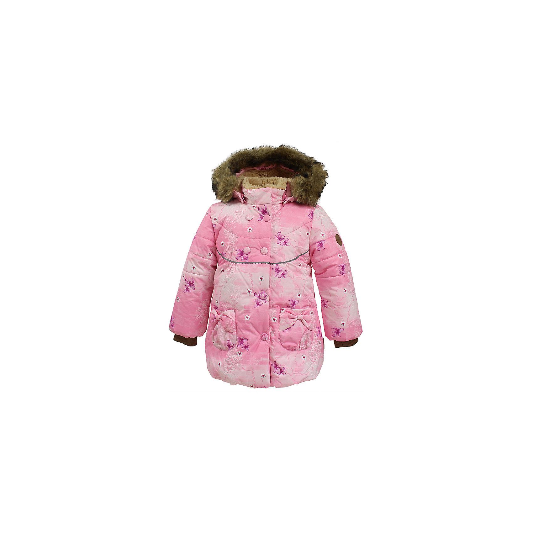 Куртка OLIVIA Huppa для девочкиВерхняя одежда<br>Характеристики товара:<br><br>• модель: Olivia;<br>• цвет: розовый;<br>• состав: 100% полиэстер;<br>• утеплитель: полиэстер,300 гр.;<br>• подкладка: Teddy Fur, тафта,полиэстер;<br>• сезон: зима;<br>• температурный режим: от -5 до - 30С;<br>• водонепроницаемость: 5000 мм;<br>• воздухопроницаемость: 5000 г/м2/24ч;<br>• особенности модели: c рисунком; с мехом на капюшоне;<br>• защитная планка молнии на кнопках;<br>• защита подбородка от защемления;<br>• мягкая меховая подкладка;<br>• безопасный капюшон крепится на кнопки и, при необходимости, отстегивается;<br>• искусственный мех на капюшоне съемный;<br>• спереди расположены два накладныхкармана, с декором в виде бантиков;<br>• светоотражающие элементы для безопасности ребенка;<br>•  трикотажные манжеты; <br>• страна бренда: Финляндия;<br>• страна изготовитель: Эстония.<br><br>Зимняя куртка с капюшоном Olivia для девочки изготовлена из водо и ветронепроницаемого, грязеотталкивающего материала. В куртке Olivia 300 грамм утеплителя, которые обеспечат тепло и комфорт ребенку при температуре от -5 до -30 градусов.Подкладка —Teddy Fur,тафта.<br><br>Функциональные элементы: капюшон отстегивается с помощью кнопок, мех отстегивается, защитная планка молнии на кнопках, защита подбородка от защемления, мягкая меховая подкладка, карманы без застежек, трикотажные манжеты, светоотражающие элементы. <br><br>Куртку Olivia для девочки бренда HUPPA  можно купить в нашем интернет-магазине.<br><br>Ширина мм: 356<br>Глубина мм: 10<br>Высота мм: 245<br>Вес г: 519<br>Цвет: розовый<br>Возраст от месяцев: 72<br>Возраст до месяцев: 84<br>Пол: Женский<br>Возраст: Детский<br>Размер: 122,80,86,92,98,104,110,116<br>SKU: 7024846