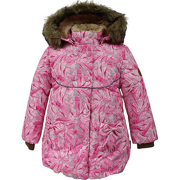 Куртка OLIVIA Huppa для девочкиВерхняя одежда<br>Характеристики товара:<br><br>• модель: Olivia;<br>• цвет: розовый;<br>• состав: 100% полиэстер;<br>• утеплитель: полиэстер,300 гр.;<br>• подкладка: Teddy Fur, тафта,полиэстер;<br>• сезон: зима;<br>• температурный режим: от -5 до - 30С;<br>• водонепроницаемость: 5000 мм;<br>• воздухопроницаемость: 5000 г/м2/24ч;<br>• особенности модели: c рисунком; с мехом на капюшоне;<br>• защитная планка молнии на кнопках;<br>• защита подбородка от защемления;<br>• мягкая меховая подкладка;<br>• безопасный капюшон крепится на кнопки и, при необходимости, отстегивается;<br>• искусственный мех на капюшоне съемный;<br>• спереди расположены два накладныхкармана, с декором в виде бантиков;<br>• светоотражающие элементы для безопасности ребенка;<br>•  трикотажные манжеты; <br>• страна бренда: Финляндия;<br>• страна изготовитель: Эстония.<br><br>Зимняя куртка с капюшоном Olivia для девочки изготовлена из водо и ветронепроницаемого, грязеотталкивающего материала. В куртке Olivia 300 грамм утеплителя, которые обеспечат тепло и комфорт ребенку при температуре от -5 до -30 градусов.Подкладка —Teddy Fur,тафта.<br><br>Функциональные элементы: капюшон отстегивается с помощью кнопок, мех отстегивается, защитная планка молнии на кнопках, защита подбородка от защемления, мягкая меховая подкладка, карманы без застежек, трикотажные манжеты, светоотражающие элементы. <br><br>Куртку Olivia для девочки бренда HUPPA  можно купить в нашем интернет-магазине.<br><br>Ширина мм: 356<br>Глубина мм: 10<br>Высота мм: 245<br>Вес г: 519<br>Цвет: розовый<br>Возраст от месяцев: 72<br>Возраст до месяцев: 84<br>Пол: Женский<br>Возраст: Детский<br>Размер: 122,110,116,104,98,92,86,80<br>SKU: 7024855