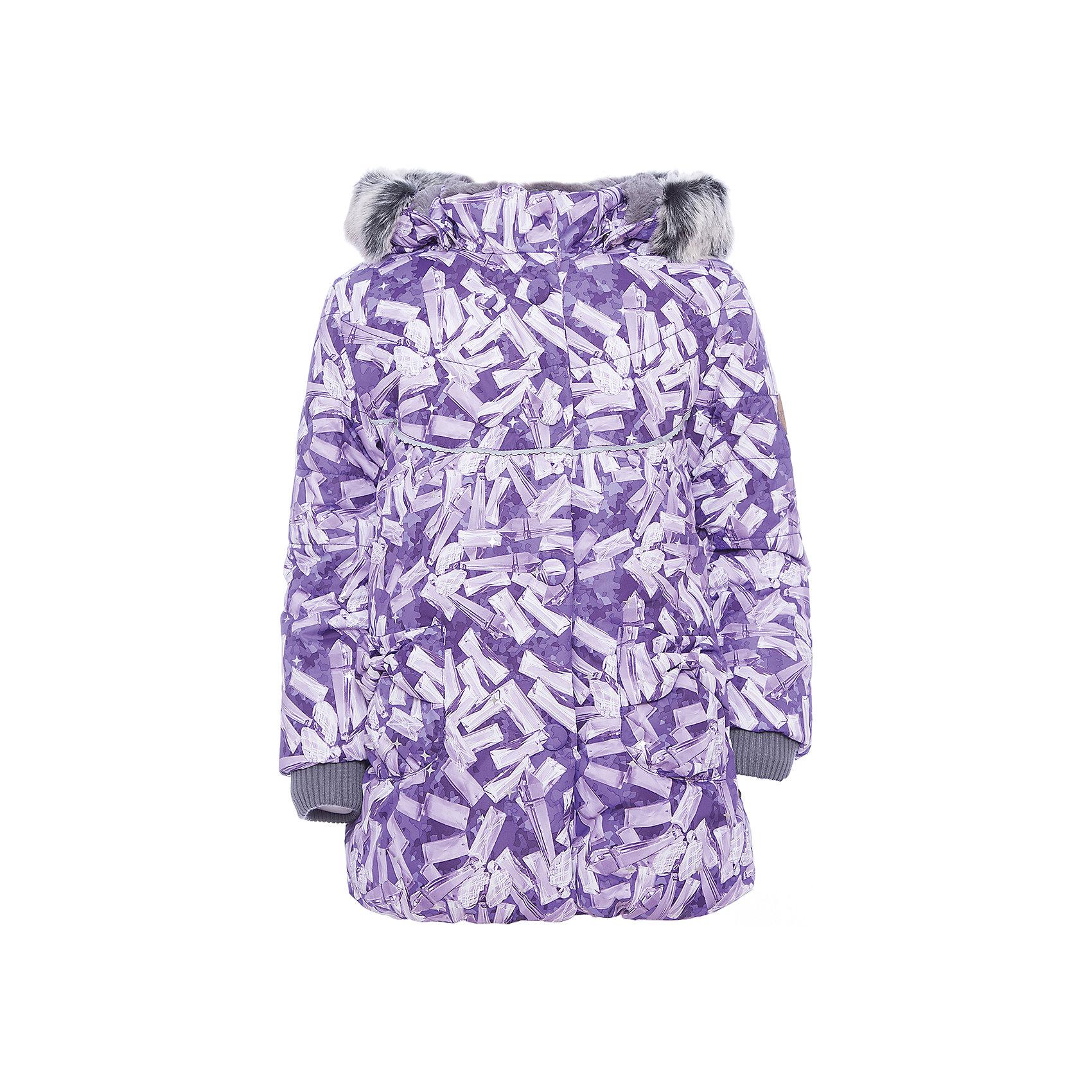 Куртка OLIVIA Huppa для девочкиВерхняя одежда<br>Характеристики товара:<br><br>• модель: Olivia;<br>• цвет: лиловый;<br>• состав: 100% полиэстер;<br>• утеплитель: полиэстер,300 гр.;<br>• подкладка: Teddy Fur, тафта,полиэстер;<br>• сезон: зима;<br>• температурный режим: от -5 до - 30С;<br>• водонепроницаемость: 5000 мм;<br>• воздухопроницаемость: 5000 г/м2/24ч;<br>• особенности модели: c рисунком; с мехом на капюшоне;<br>• защитная планка молнии на кнопках;<br>• защита подбородка от защемления;<br>• мягкая меховая подкладка;<br>• безопасный капюшон крепится на кнопки и, при необходимости, отстегивается;<br>• искусственный мех на капюшоне съемный;<br>• спереди расположены два накладныхкармана, с декором в виде бантиков;<br>• светоотражающие элементы для безопасности ребенка;<br>•  трикотажные манжеты; <br>• страна бренда: Финляндия;<br>• страна изготовитель: Эстония.<br><br>Зимняя куртка с капюшоном Olivia для девочки изготовлена из водо и ветронепроницаемого, грязеотталкивающего материала. В куртке Olivia 300 грамм утеплителя, которые обеспечат тепло и комфорт ребенку при температуре от -5 до -30 градусов.Подкладка —Teddy Fur,тафта.<br><br>Функциональные элементы: капюшон отстегивается с помощью кнопок, мех отстегивается, защитная планка молнии на кнопках, защита подбородка от защемления, мягкая меховая подкладка, карманы без застежек, трикотажные манжеты, светоотражающие элементы. <br><br>Куртку Olivia для девочки бренда HUPPA  можно купить в нашем интернет-магазине.<br><br>Ширина мм: 356<br>Глубина мм: 10<br>Высота мм: 245<br>Вес г: 519<br>Цвет: лиловый<br>Возраст от месяцев: 72<br>Возраст до месяцев: 84<br>Пол: Женский<br>Возраст: Детский<br>Размер: 122,80,86,92,98,104,110,116<br>SKU: 7024864