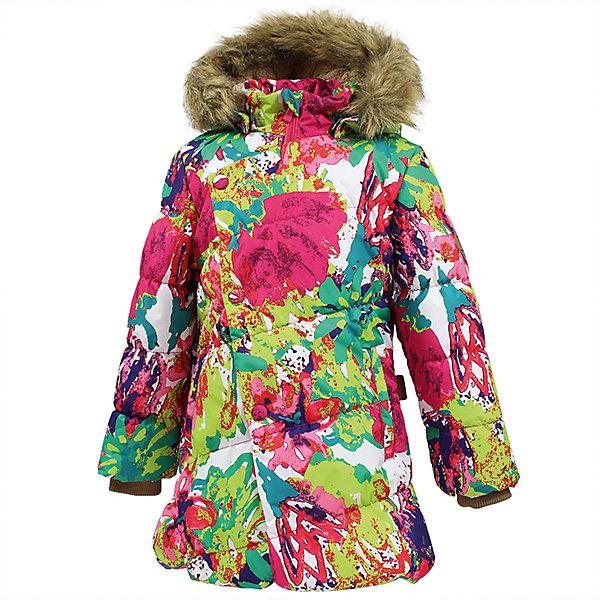 Куртка ROSA Huppa для девочкиЗимние куртки<br>Характеристики товара:<br><br>• модель: Rosa;<br>• состав: 100% полиэстер;<br>• утеплитель: полиэстер,300 гр.;<br>• подкладка: Teddy Fur, тафта,полиэстер;<br>• сезон: зима;<br>• температурный режим: от -5 до - 30С;<br>• водонепроницаемость: 10000 мм;<br>• воздухопроницаемость: 10000 г/м2/24ч;<br>• особенности модели: с рисунком,с мехом на капюшоне;<br>• защитная планка молнии на кнопках;<br>• защита подбородка от защемления;<br>• мягкая меховая подкладка;<br>• капюшон отстегивается;<br>• искусственный мех на капюшоне съемный;<br>• два врезных кармана на молнии;<br>• светоотражающие элементы для безопасности ребенка;<br>• трикотажные манжеты; <br>• страна бренда: Финляндия;<br>• страна изготовитель: Эстония.<br><br>Зимняя куртка Rosa  для девочки изготовлена из водо и ветронепроницаемого, грязеотталкивающего материала. В куртке Rosa  300 грамм утеплителя, которые обеспечат тепло и комфорт ребенку при температуре от -5 до -30 градусов.Подкладка —Teddy Fur,тафта.<br><br>Функциональные элементы: капюшон отстегивается с помощью кнопок, мех отстегивается, защитная планка молнии на кнопках, защита подбородка от защемления, мягкая меховая подкладка, карманы на молнии, трикотажные манжеты, светоотражающие элементы. <br><br>Куртку Rosa для девочки бренда HUPPA  можно купить в нашем интернет-магазине.<br>Ширина мм: 356; Глубина мм: 10; Высота мм: 245; Вес г: 519; Цвет: разноцветный; Возраст от месяцев: 24; Возраст до месяцев: 36; Пол: Женский; Возраст: Детский; Размер: 98,158,152,146,140,134,128,122,116,110,104; SKU: 7024934;
