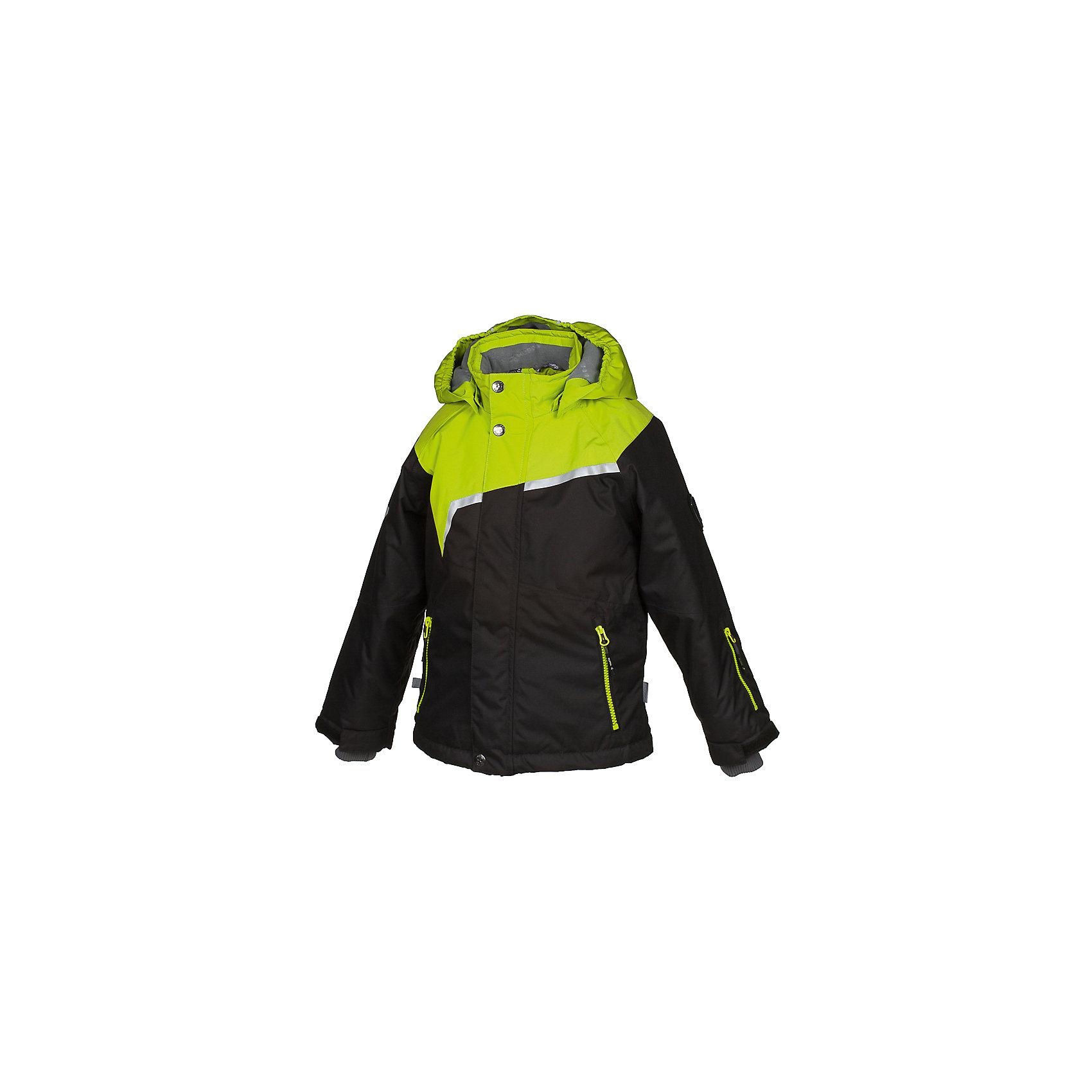 Куртка ISLA HuppaВерхняя одежда<br>Характеристики товара:<br><br>• модель: Isla;<br>• цвет: черный/салатовый;<br>• состав: 100% полиэстер;<br>• утеплитель: полиэстер,200 гр.;<br>• подкладка: полиэстер, тафта, флис, теплоотражающая подкладка Huppa tec;<br>• сезон: зима;<br>• температурный режим: от -5 до - 20С;<br>• водонепроницаемость: 10000 мм;<br>• воздухопроницаемость: 10000 г/м2/24ч;<br>• все швы проклеены и не пропускают влагу;<br>• защитная планка молнии на кнопках;<br>• защита подбородка от защемления;<br>• наличие внутренней снегозащиты куртки;<br>• капюшон крепится на кнопки и, при необходимости, отстегивается;<br>• эластичный шнур с фиксатором;<br>• внутренний и боковые карманы застегиваются на молнию;<br>• светоотражающие элементы для безопасности ребенка;<br>• регулируемые рукава на липучке с дополнительным вязаным манжетом внутри; <br>• страна бренда: Финляндия;<br>• страна изготовитель: Эстония.<br><br>Куртка Isla  для мальчика изготовлена из водо и ветронепроницаемого, грязеотталкивающего материала. В куртке Isla  200 грамм утеплителя, которые обеспечат тепло и комфорт ребенку при температуре от -5 до -20 градусов.Подкладка —полиэстер, тафта, флис, теплоотражающая подкладка Huppa tec.<br><br>Функциональные элементы: капюшон отстегивается с помощью кнопок, защитная планка молнии на кнопках, защита подбородка от защемления, наличие внутренней снегозащиты куртки,эластичный шнур с фиксатором, внутренний и боковые карманы застегиваются на молнию,  регулируемые рукава на липучке с дополнительным вязаным манжетом внутри, все швы проклеены и не пропускают влагу,светоотражающие элементы. <br><br>Куртку Isla для мальчика бренда HUPPA  можно купить в нашем интернет-магазине.<br><br>Ширина мм: 356<br>Глубина мм: 10<br>Высота мм: 245<br>Вес г: 519<br>Цвет: черный<br>Возраст от месяцев: 144<br>Возраст до месяцев: 156<br>Пол: Унисекс<br>Возраст: Детский<br>Размер: 158,104,110,116,122,128,134,140,146,152<br>SKU: 7024970