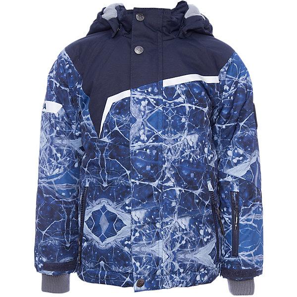 Куртка ISLA Huppa для мальчикаВерхняя одежда<br>Характеристики товара:<br><br>• модель: Isla;<br>• цвет: синий принт/синий;<br>• состав: 100% полиэстер;<br>• утеплитель: полиэстер,200 гр.;<br>• подкладка: полиэстер, тафта, флис, теплоотражающая подкладка Huppa tec;<br>• сезон: зима;<br>• температурный режим: от -5 до - 20С;<br>• водонепроницаемость: 10000 мм;<br>• воздухопроницаемость: 10000 г/м2/24ч;<br>• все швы проклеены и не пропускают влагу;<br>• защитная планка молнии на кнопках;<br>• защита подбородка от защемления;<br>• наличие внутренней снегозащиты куртки;<br>• капюшон крепится на кнопки и, при необходимости, отстегивается;<br>• эластичный шнур с фиксатором;<br>• внутренний и боковые карманы застегиваются на молнию;<br>• светоотражающие элементы для безопасности ребенка;<br>• регулируемые рукава на липучке с дополнительным вязаным манжетом внутри; <br>• страна бренда: Финляндия;<br>• страна изготовитель: Эстония.<br><br>Куртка Isla  для мальчика изготовлена из водо и ветронепроницаемого, грязеотталкивающего материала.<br><br>В куртке Isla  200 грамм утеплителя, которые обеспечат тепло и комфорт ребенку при температуре от -5 до -20 градусов.Подкладка —полиэстер, тафта, флис, теплоотражающая подкладка Huppa tec.<br><br>Функциональные элементы: капюшон отстегивается с помощью кнопок, защитная планка молнии на кнопках, защита подбородка от защемления, наличие внутренней снегозащиты куртки,эластичный шнур с фиксатором, внутренний и боковые карманы застегиваются на молнию,  регулируемые рукава на липучке с дополнительным вязаным манжетом внутри, все швы проклеены и не пропускают влагу,светоотражающие элементы. <br><br>Куртку Isla для мальчика бренда HUPPA  можно купить в нашем интернет-магазине.<br><br>Ширина мм: 356<br>Глубина мм: 10<br>Высота мм: 245<br>Вес г: 519<br>Цвет: синий<br>Возраст от месяцев: 36<br>Возраст до месяцев: 48<br>Пол: Мужской<br>Возраст: Детский<br>Размер: 104,158,152,146,140,134,128,122,116,110<br>SKU: 7024981