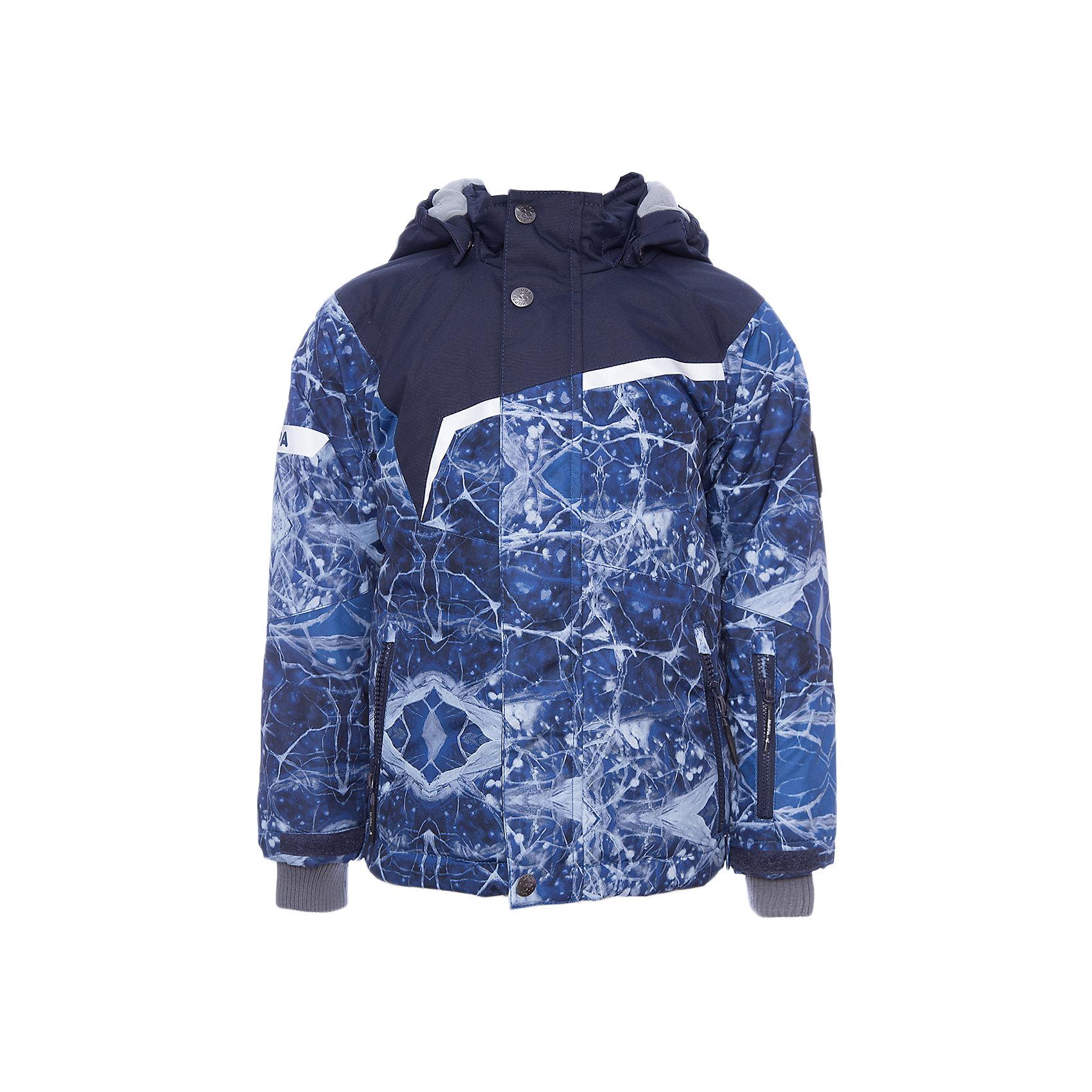 Куртка ISLA HuppaЗимние куртки<br>Характеристики товара:<br><br>• модель: Isla;<br>• цвет: синий принт/синий;<br>• состав: 100% полиэстер;<br>• утеплитель: полиэстер,200 гр.;<br>• подкладка: полиэстер, тафта, флис, теплоотражающая подкладка Huppa tec;<br>• сезон: зима;<br>• температурный режим: от -5 до - 20С;<br>• водонепроницаемость: 10000 мм;<br>• воздухопроницаемость: 10000 г/м2/24ч;<br>• все швы проклеены и не пропускают влагу;<br>• защитная планка молнии на кнопках;<br>• защита подбородка от защемления;<br>• наличие внутренней снегозащиты куртки;<br>• капюшон крепится на кнопки и, при необходимости, отстегивается;<br>• эластичный шнур с фиксатором;<br>• внутренний и боковые карманы застегиваются на молнию;<br>• светоотражающие элементы для безопасности ребенка;<br>• регулируемые рукава на липучке с дополнительным вязаным манжетом внутри; <br>• страна бренда: Финляндия;<br>• страна изготовитель: Эстония.<br><br>Куртка Isla  для мальчика изготовлена из водо и ветронепроницаемого, грязеотталкивающего материала.<br><br>В куртке Isla  200 грамм утеплителя, которые обеспечат тепло и комфорт ребенку при температуре от -5 до -20 градусов.Подкладка —полиэстер, тафта, флис, теплоотражающая подкладка Huppa tec.<br><br>Функциональные элементы: капюшон отстегивается с помощью кнопок, защитная планка молнии на кнопках, защита подбородка от защемления, наличие внутренней снегозащиты куртки,эластичный шнур с фиксатором, внутренний и боковые карманы застегиваются на молнию,  регулируемые рукава на липучке с дополнительным вязаным манжетом внутри, все швы проклеены и не пропускают влагу,светоотражающие элементы. <br><br>Куртку Isla для мальчика бренда HUPPA  можно купить в нашем интернет-магазине.<br><br>Ширина мм: 356<br>Глубина мм: 10<br>Высота мм: 245<br>Вес г: 519<br>Цвет: синий<br>Возраст от месяцев: 144<br>Возраст до месяцев: 156<br>Пол: Унисекс<br>Возраст: Детский<br>Размер: 158,104,110,116,122,128,134,140,146,152<br>SKU: 7024981