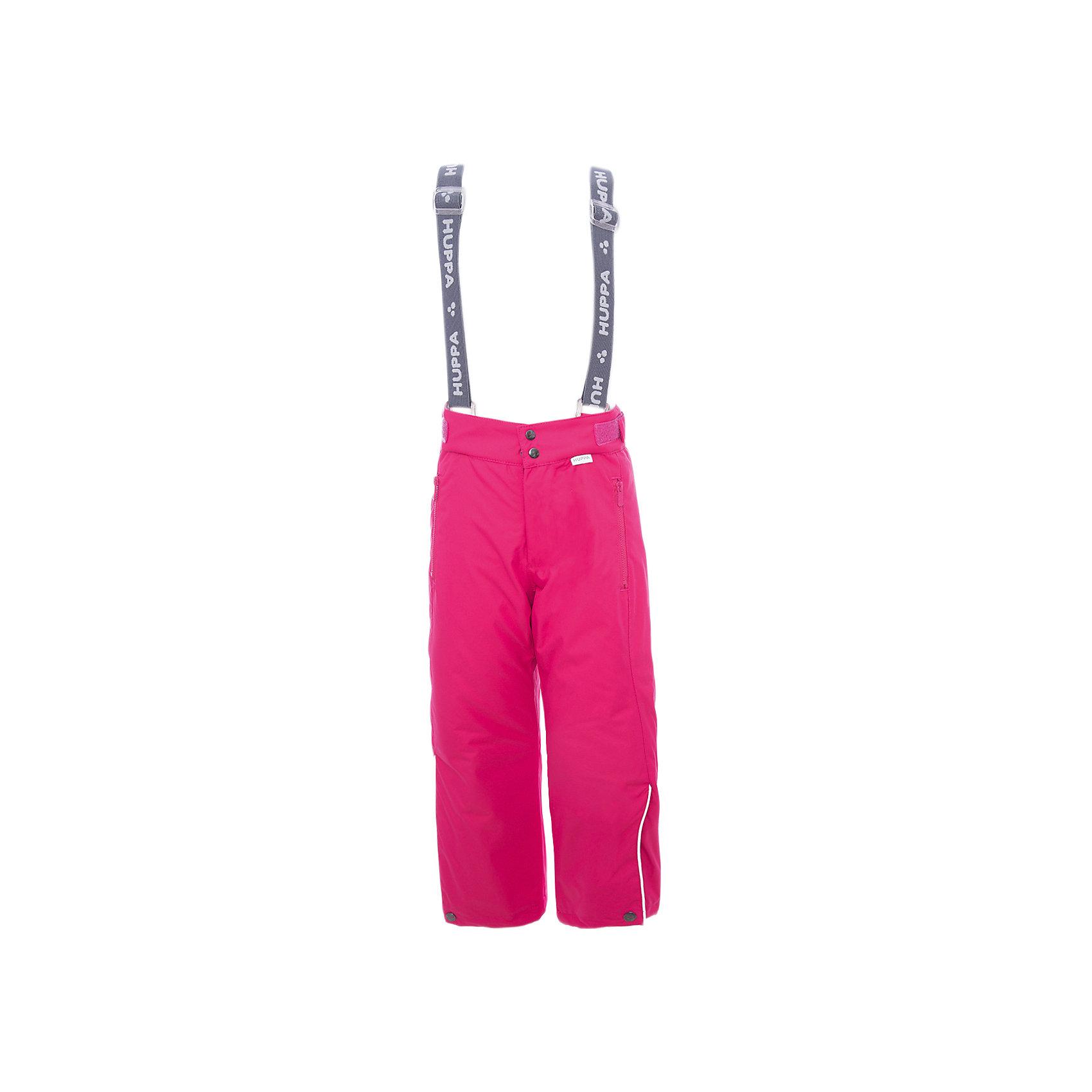 Брюки GENNA 1 Huppa для девочкиВерхняя одежда<br>Характеристики товара:<br><br>• модель: Genna 1;<br>• цвет: фуксия;<br>• состав: 100% полиэстер;<br>• утеплитель: нового поколенияHuppaTherm, 120 гр.;<br>• подкладка: полиэстер,тафта,pritex;<br>• сезон: зима;<br>• температурный режим: от - 5 до - 30С;<br>• водонепроницаемость: 10000 мм;<br>• воздухопроницаемость: 10000 г/м2/24ч;<br>• влагоустойчивая и дышащая ткань верхнего слоя изделияпозволяет сохранить внутри собственное тепло ребенка и препятствует попаданию извне холодного воздуха;<br>• эластичные подтяжки регулируются по длине; <br>• регулируемый пояс; <br>• карманы застегиваются на молнию;<br>• шаговый шов,внутренние и боковые швы проклеены, для дополнительной защиты от протекания;<br>• внутри дополнительная штанина на резинке, предотвращает попадание снега внутрь;<br>• низ брюк затягивается на шнурок с фиксатором;<br>• светоотражающие элементы для безопасности ребенка;<br>• страна бренда: Финляндия;<br>• страна изготовитель: Эстония.<br><br><br>Зимние брюки Genna 1 для девочки бренда HUPPA - это отличный вариант для холодной зимы.<br><br>Утеплитель HuppaTherm - высокотехнологичный легкий синтетический утеплитель нового поколения. Сохраняет объем и высокую теплоизоляцию изделия. Легко стирается и быстро сохнет. Изделия HuppaTherm легкие по весу, комфортные и теплые.<br><br>Функциональные элементы:  эластичные подтяжки регулируются по длине, регулируемый пояс, карманы застегиваются на молнию, шаговый шов,внутренние и боковые швы проклеены, для дополнительной защиты от протекания,внутри дополнительная штанина на резинке, предотвращает попадание снега внутрь, низ брюк затягивается на шнурок с фиксатором, светоотражающие элементы.<br><br>Зимние брюки Genna 1 для девочки бренда HUPPA  можно купить в нашем интернет-магазине.<br><br>Ширина мм: 215<br>Глубина мм: 88<br>Высота мм: 191<br>Вес г: 336<br>Цвет: фуксия<br>Возраст от месяцев: 168<br>Возраст до месяцев: 180<br>Пол: Женский<br>Возраст: Детский<br>Размер: 170,10