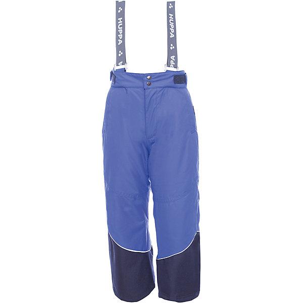 Брюки SCOTT 1 Huppa для мальчикаВерхняя одежда<br>Характеристики товара:<br><br>• модель: Scott 1;<br>• состав: 100% полиэстер;<br>• утеплитель: нового поколенияHuppaTherm, 120 гр.;<br>• подкладка: полиэстер,тафта,pritex;<br>• сезон: зима;<br>• температурный режим: от - 5 до - 30С;<br>• водонепроницаемость: 10000 мм;<br>• воздухопроницаемость: 10000 г/м2/24ч;<br>• влагоустойчивая и дышащая ткань верхнего слоя изделияпозволяет сохранить внутри собственное тепло ребенка и препятствует попаданию извне холодного воздуха;<br>• эластичные подтяжки регулируются по длине; <br>• регулируемый пояс; <br>• карманы застегиваются на молнию;<br>• шаговый шов,внутренние и боковые швы проклеены, для дополнительной защиты от протекания;<br>• внутри дополнительная штанина на резинке, предотвращает попадание снега внутрь;<br>• низ брюк затягивается на шнурок с фиксатором;<br>• светоотражающие элементы для безопасности ребенка;<br>• страна бренда: Финляндия;<br>• страна изготовитель: Эстония.<br><br><br>Зимние брюки Scott 1 для девочки бренда HUPPA - это отличный вариант для холодной зимы.<br><br>Утеплитель HuppaTherm - высокотехнологичный легкий синтетический утеплитель нового поколения. Сохраняет объем и высокую теплоизоляцию изделия. Легко стирается и быстро сохнет. Изделия HuppaTherm легкие по весу, комфортные и теплые.<br><br>Функциональные элементы:  эластичные подтяжки регулируются по длине, регулируемый пояс, карманы застегиваются на молнию, шаговый шов,внутренние и боковые швы проклеены, для дополнительной защиты от протекания,внутри дополнительная штанина на резинке, предотвращает попадание снега внутрь, низ брюк затягивается на шнурок с фиксатором, светоотражающие элементы.<br><br>Зимние брюки Scott 1 для девочки бренда HUPPA  можно купить в нашем интернет-магазине.<br><br>Ширина мм: 215<br>Глубина мм: 88<br>Высота мм: 191<br>Вес г: 336<br>Цвет: синий<br>Возраст от месяцев: 120<br>Возраст до месяцев: 132<br>Пол: Мужской<br>Возраст: Детский<br>Размер: 146,140,116,110,104,134,1