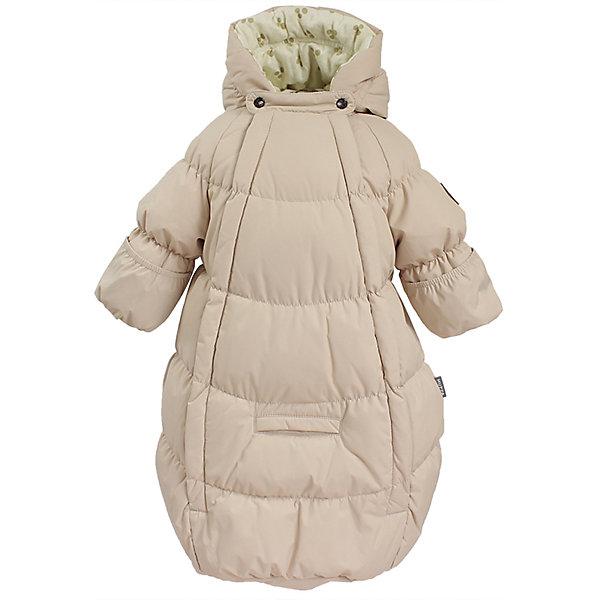 Конверт EMILY HuppaВерхняя одежда<br>Характеристики товара:<br><br>• модель: Emily;<br>• состав: 100% полиэстер;<br>• утеплитель: 50% пух, 50% перо.;<br>• подкладка: фланель,100% хлопок;<br>• сезон: зима;<br>• температурный режим: от 0 до - 30С;<br>• водонепроницаемость: 5000 мм;<br>• воздухопроницаемость: 5000 г/м2/24ч;<br>• влагоустойчивая и дышащая ткань верхнего слоя изделияпозволяет сохранить внутри собственное тепло ребенка и препятствует попаданию извне холодного воздуха;<br>• две длинные молнии;<br>• регулируемый капюшон;<br>• манжеты рукавов на резинке;<br>• манжеты рукавов с отворотом;<br>• светоотражающие элементы для безопасности ребенка;<br>• страна бренда: Финляндия;<br>• страна изготовитель: Эстония.<br><br>Теплый пуховый конверт для новорождённых Emily. Мягкая фланелевая подкладка очень комфортна для малыша. Отвороты на рукавах не дадут замерзнуть маленьким ручкам. Предусмотрена прорезь для ремней автокресла.<br><br>* Температурный режим указан приблизительно — необходимо, прежде всего, ориентироваться на ощущения ребенка. Температурный режим работает в случае соблюдения правила многослойности – использования флисовой поддевы и термобелья.<br><br>Вы можете приобрести конверт EMILY Huppa(Хуппа) в нашем интернет-магазине.<br><br>Ширина мм: 356<br>Глубина мм: 10<br>Высота мм: 245<br>Вес г: 519<br>Цвет: бежевый<br>Возраст от месяцев: 0<br>Возраст до месяцев: 3<br>Пол: Женский<br>Возраст: Детский<br>Размер: 56,68,62<br>SKU: 7025199