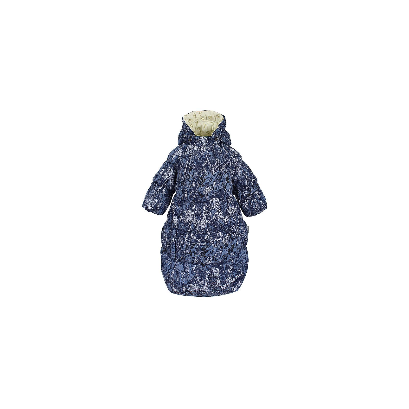 Конверт EMILY HuppaВерхняя одежда<br>Характеристики товара:<br><br>• модель: Emily;<br>• состав: 100% полиэстер;<br>• утеплитель: 50% пух, 50% перо.;<br>• подкладка: фланель,100% хлопок;<br>• сезон: зима;<br>• температурный режим: от 0 до - 30С;<br>• водонепроницаемость: 5000 мм;<br>• воздухопроницаемость: 5000 г/м2/24ч;<br>• влагоустойчивая и дышащая ткань верхнего слоя изделияпозволяет сохранить внутри собственное тепло ребенка и препятствует попаданию извне холодного воздуха;<br>• две длинные молнии;<br>• регулируемый капюшон;<br>• манжеты рукавов на резинке;<br>• манжеты рукавов с отворотом;<br>• светоотражающие элементы для безопасности ребенка;<br>• страна бренда: Финляндия;<br>• страна изготовитель: Эстония.<br><br>Теплый пуховый конверт для новорождённых Emily. Мягкая фланелевая подкладка очень комфортна для малыша. Отвороты на рукавах не дадут замерзнуть маленьким ручкам. Предусмотрена прорезь для ремней автокресла.<br><br>* Температурный режим указан приблизительно — необходимо, прежде всего, ориентироваться на ощущения ребенка. Температурный режим работает в случае соблюдения правила многослойности – использования флисовой поддевы и термобелья.<br><br>Вы можете приобрести конверт EMILY Huppa(Хуппа) в нашем интернет-магазине.<br><br>Ширина мм: 356<br>Глубина мм: 10<br>Высота мм: 245<br>Вес г: 519<br>Цвет: синий<br>Возраст от месяцев: 3<br>Возраст до месяцев: 6<br>Пол: Унисекс<br>Возраст: Детский<br>Размер: 68,56,62<br>SKU: 7025207