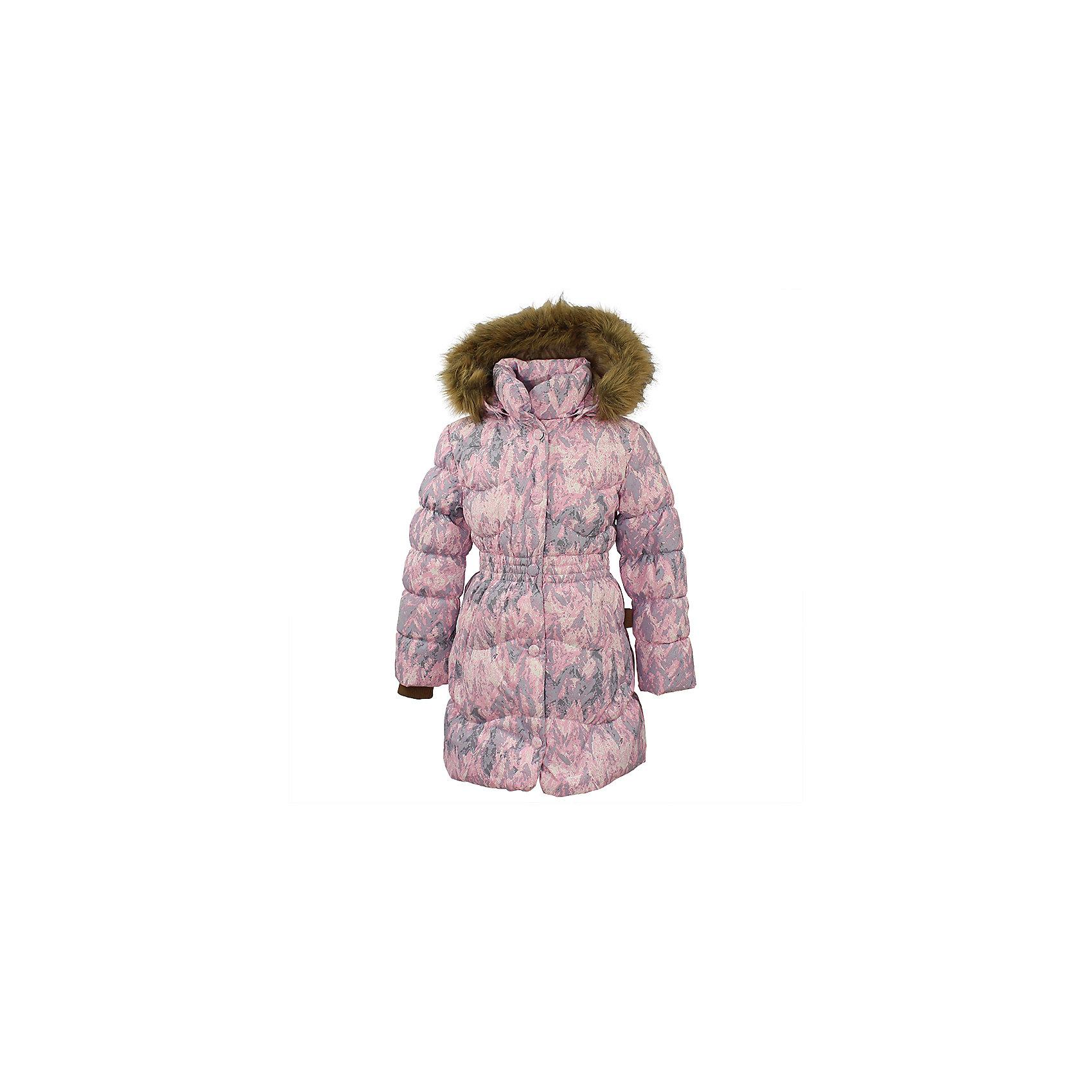 Пальто GRACE 1 Huppa для девочкиВерхняя одежда<br>Характеристики товара:<br><br>• модель: Grace 1;<br>• цвет: cветло-розовый;<br>• пол: девочка;<br>• состав: 100% полиэстер;<br>• утеплитель: 50% пух, 50% перо.;<br>• подкладка: тафта,полиэстер;<br>• сезон: зима;<br>• температурный режим: от - 5 до - 30С;<br>• водонепроницаемость: 5000 мм;<br>• воздухопроницаемость: 5000 г/м2/24ч;<br>• влагоустойчивая и дышащая ткань верхнего слоя изделияпозволяет сохранить внутри собственное тепло ребенка и препятствует попаданию извне холодного воздуха;<br>• воротник-стойка застегивается на застежку-молнию и кнопки;<br>• безопасный капюшон при необходимости, отстегивается;<br>• мех на капюшоне съемный;<br>• низ рукавов дополнен эластичными манжетами;<br>• карманы на молнии;<br>• светоотражающие детали для безопасности ребенка;<br>• страна бренда: Финляндия;<br>• страна изготовитель: Эстония.<br><br>Стильное пальто Grace 1 для девочки бренда Huppa идеально подойдет для ребенка в прохладное время года. Модель изготовлена из полиэстера.Подкладка —  тафта,полиэстер.<br> <br>Пальто с капюшоном и небольшим воротником-стойкой застегивается на застежку-молнию и кнопки. Капюшон оформлен съемным мехом. Низ рукавов дополнен эластичными манжетами, не стягивающими запястья. Карманы на молнии надежно сохранят все сокровища. Такое стильное пальто станет прекрасным дополнением гардеробу вашей девочки, оно подарит комфорт и тепло.<br><br>Вы можете приобрести стильное пальто Grace 1 для девочки бренда Huppa(Хуппа) в нашем интернет-магазине.<br><br>Ширина мм: 356<br>Глубина мм: 10<br>Высота мм: 245<br>Вес г: 519<br>Цвет: розовый<br>Возраст от месяцев: 108<br>Возраст до месяцев: 120<br>Пол: Женский<br>Возраст: Детский<br>Размер: 140,104,110,116,122,128,134<br>SKU: 7025235