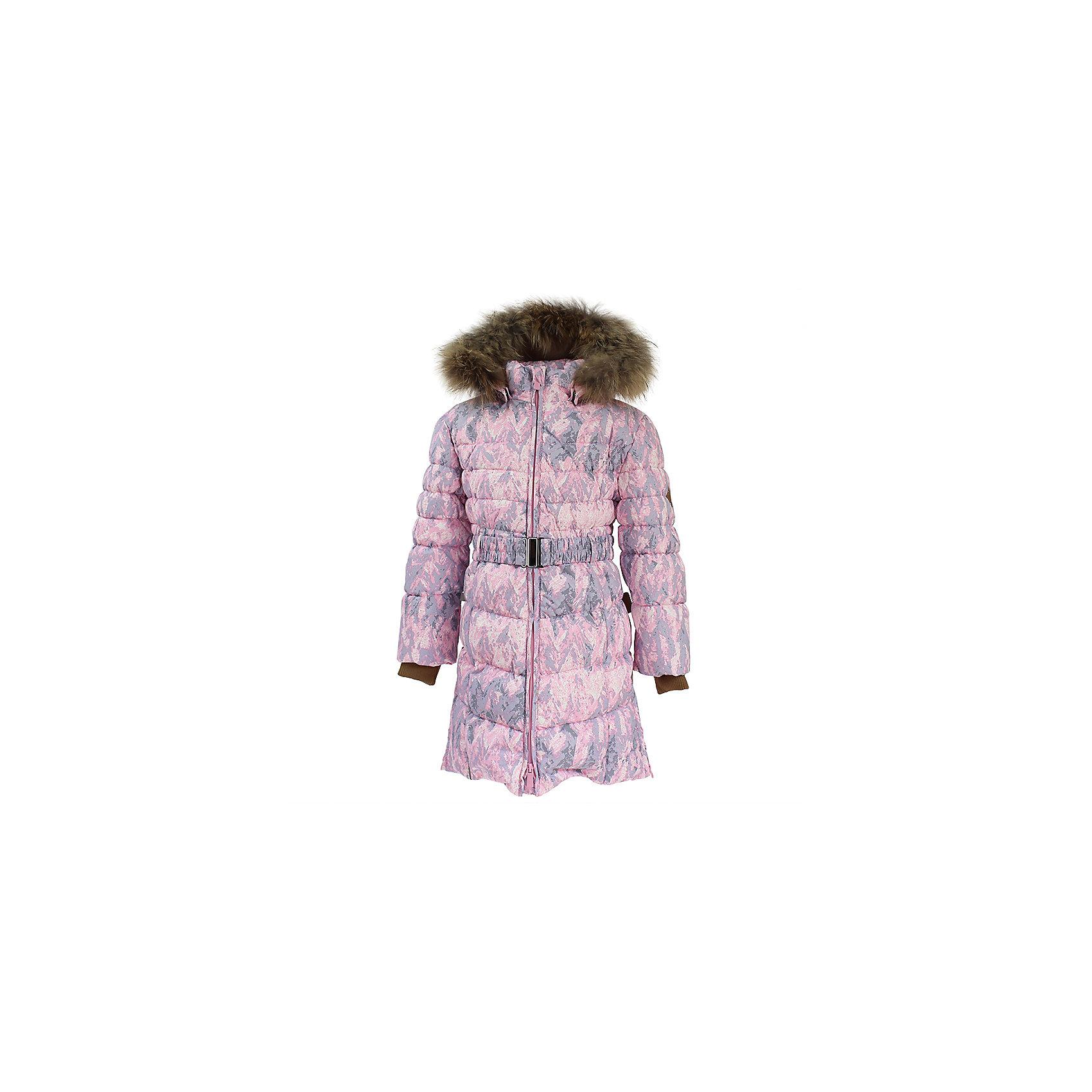 Пальто YASMINE Huppa для девочкиВерхняя одежда<br>Характеристики товара:<br><br>• модель: Yasmine;<br>• цвет: светло - розовый принт;<br>• пол: девочка;<br>• состав: 100% полиэстер;<br>• утеплитель: 50% пух, 50% перо.;<br>• подкладка: тафта,полиэстер;<br>• сезон: зима;<br>• температурный режим: от - 5 до - 30С;<br>• водонепроницаемость: 5000 мм;<br>• воздухопроницаемость: 5000 г/м2/24ч;<br>• влагоустойчивая и дышащая ткань;<br>• двухсторонняя молния;<br>• дополнительная корректировка на талиив виде пояса;<br>• безопасный капюшон при необходимости, отстегивается;<br>• натуральный мех на капюшоне съемный;<br>• низ рукавов дополнен эластичными манжетами;<br>• внутренний и боковые карманы застегиваются на молнию;<br>• светоотражающие детали для безопасности ребенка;<br>• страна бренда: Финляндия;<br>• страна изготовитель: Эстония.<br><br>Приталенное девичье пальто Yasmine средней длины в равной степени удачно смотрится и со школьным гардеробом, и с нарядами в стиле casual. <br><br>Экологически чистый, натуральный утеплитель (пух/перо) делает модель по-настоящему тёплой, безопасной, практичной. Снаружи изделие покрыто влагостойкой, ветроустойчивой тканью с хорошими дышащими «свойствами».<br><br>Функциональные элементы: капюшон отстегивается с помощью кнопок, отстегивающийся натуральный мех, прочная декоративная раздвоенная молния, защита подбородка от защемления, карманы застегиваются на молнию, дополнительная корректировка на талиив виде пояса,низ рукавов дополнен эластичными манжетами, светоотражающие элементы. <br><br>Пальто Yasmine для девочки бренда HUPPA  можно купить в нашем интернет-магазине.<br><br>Ширина мм: 356<br>Глубина мм: 10<br>Высота мм: 245<br>Вес г: 519<br>Цвет: розовый<br>Возраст от месяцев: 72<br>Возраст до месяцев: 84<br>Пол: Женский<br>Возраст: Детский<br>Размер: 122,128,134,140,146,152,158,164,170,104,110,116<br>SKU: 7025304