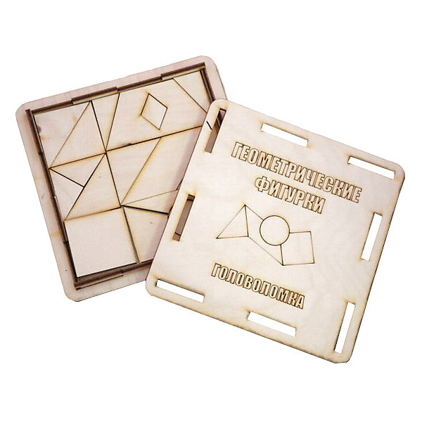 Головоломка Геометрические фигурки, ПолноцветКлассические головоломки<br>Характеристики:<br><br>• возраст: от 5 лет;<br>• уровень сложности: 2;<br>• материал: фанера березовая шлифованная ФК, 3 мм;<br>• размер упаковки: 14х14х1,2см;<br>• вес упаковки: 110 г;<br>• тип упаковки: деревянная коробка.<br><br>Головоломка - это прекрасный инструмент для ума, вырабатывающий неординарное видение. Головоломку можно раскрасить красками, карандашами или фломастерами. Плоская коробка с крышкой вмещает детали головоломки в виде различных геометрических фигур. Чтобы решить головоломку, нужно собрать квадрат в основании коробки.<br><br>Развивающие занятия стимулируют логику, пространственное мышление и тренируют мелкую моторику.<br><br>Головоломку «Геометрические фигурки», Полноцвет можно приобрести в нашем интернет-магазине.<br>Ширина мм: 120; Глубина мм: 140; Высота мм: 140; Вес г: 110; Возраст от месяцев: 36; Возраст до месяцев: 2147483647; Пол: Унисекс; Возраст: Детский; SKU: 7025953;