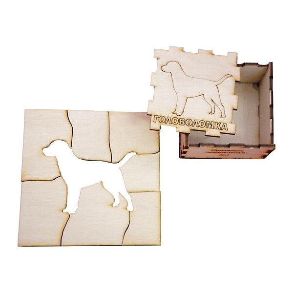 Головоломка Собака, ПолноцветКлассические головоломки<br>Характеристики:<br><br>• возраст: от 5 лет;<br>• уровень сложности: 3;<br>• материал: фанера березовая шлифованная ФК, 3 мм;<br>• размер упаковки: 6х6х3 см;<br>• вес упаковки: 60 г;<br>• тип упаковки: деревянная коробка.<br><br>Головоломка - это прекрасный инструмент для ума, вырабатывающий неординарное видение. Головоломку можно раскрасить красками, карандашами или фломастерами. Деревянная коробка с крышкой вмещает детали головоломки. Чтобы решить головоломку, нужно собрать квадрат с выемкой в виде собаки.<br><br>Развивающие занятия стимулируют логику, пространственное мышление и тренируют мелкую моторику.<br><br>Головоломку «Собака», Полноцвет можно приобрести в нашем интернет-магазине.<br>Ширина мм: 30; Глубина мм: 60; Высота мм: 60; Вес г: 60; Возраст от месяцев: 36; Возраст до месяцев: 2147483647; Пол: Унисекс; Возраст: Детский; SKU: 7025954;