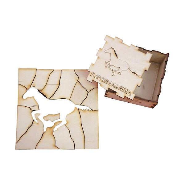 Головоломка Лошадь, ПолноцветКлассические головоломки<br>Характеристики:<br><br>• возраст: от 5 лет;<br>• уровень сложности: 4;<br>• материал: фанера березовая шлифованная ФК, 3 мм ;<br>• размер упаковки: 6х6х3 см;<br>• вес упаковки: 70 г;<br>• тип упаковки: деревянная коробка.<br><br>Головоломка - это прекрасный инструмент для ума, вырабатывающий неординарное видение. Головоломку можно раскрасить красками, карандашами или фломастерами. Деревянная коробка с крышкой вмещает детали головоломки. Чтобы решить головоломку, нужно собрать квадрат с выемкой в виде лошади.<br><br>Развивающие занятия стимулируют логику, пространственное мышление и тренируют мелкую моторику.<br><br>Головоломку «Лошадь», Полноцвет можно приобрести в нашем интернет-магазине.<br><br>Ширина мм: 30<br>Глубина мм: 60<br>Высота мм: 60<br>Вес г: 70<br>Возраст от месяцев: 36<br>Возраст до месяцев: 2147483647<br>Пол: Унисекс<br>Возраст: Детский<br>SKU: 7025956