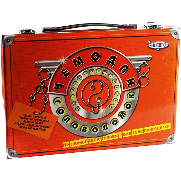 Чемодан головоломок, FantasticКлассические головоломки<br>Характеристики:<br><br>• возраст: от 5 лет;<br>• материал: картон, пластик, металл, дерево;<br>• размер упаковки: 33х23х7 см;<br>• вес: 880 г;<br>• тип упаковки: пластиковый чемодан с ручкой.<br><br>Большой набор головоломок, упакованных в подарочный чемоданчик, понравится маленьким исследователям. Игра подходит для мальчиков и девочек. Головоломки отличаются по сложности и способу складывания. <br><br>В компект входит:<br><br>• 2 книги;<br>• 5 металлических головоломок (2 деревянные, 2 с веревками и 1 с шариками); <br>• 8 открыток-пазлов;<br>• блокнот с играми;<br>• карандаш;<br>• песочные часы.<br><br>«Чемодан головоломок», Fantastic можно приобрести в нашем интернет-магазине.<br>Ширина мм: 62; Глубина мм: 325; Высота мм: 222; Вес г: 880; Возраст от месяцев: 36; Возраст до месяцев: 2147483647; Пол: Унисекс; Возраст: Детский; SKU: 7025975;