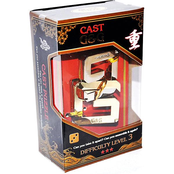 Головоломка Двойное Джи, Hanayama Cast PuzzleКлассические головоломки<br>Характеристики:<br><br>• возраст: от 8 лет;<br>• уровень сложности: 3;<br>• материал: металл;<br>• размер головоломки: 6х4х1 см;<br>• размер упаковки: 11,5х7,5х4,5 см;<br>• вес: 140 г;<br>• тип упаковки: коробка с окошком.<br><br>В головоломке «Двойное Джи» две отдельные части соединяются друг с другом. Чтобы решить головоломку, необходимо разделить ее на части и снова собрать. Задача имеет много возможностей решения и неожиданные препятствия.<br><br>Головоломка - это прекрасный инструмент для ума, вырабатывающий неординарное видение. Увлекательное занятие для детей и взрослых разнообразит досуг. Развивающие занятия стимулируют логику, пространственное мышление и тренируют мелкую моторику.<br><br>Головоломку «Двойное Джи», Hanayama Cast Puzzle можно приобрести в нашем интернет-магазине.<br>Ширина мм: 45; Глубина мм: 75; Высота мм: 120; Вес г: 123; Возраст от месяцев: 36; Возраст до месяцев: 2147483647; Пол: Унисекс; Возраст: Детский; SKU: 7025978;