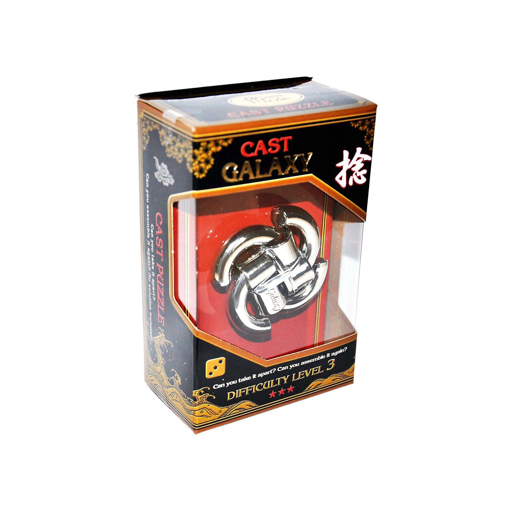 Головоломка Галактика, Hanayama Cast PuzzleЖелезные головоломки<br>Характеристики:<br><br>• возраст: от 8 лет;<br>• уровень сложности: 3;<br>• материал: металл;<br>• размер головоломки: 6х6х1 см;<br>• размер упаковки: 11,5х7,5х4,5 см;<br>• вес: 110 г;<br>• тип упаковки: коробка с окошком.<br><br>Головоломка похожа на циркулирующую Галактику, поэтому она получила такое название. Четыре отдельные части соединяются друг с другом. Чтобы решить головоломку, необходимо разделить ее на части и снова собрать. Задача имеет много возможностей решения и неожиданные препятствия.<br><br>Головоломка - это прекрасный инструмент для ума, вырабатывающий неординарное видение. Увлекательное занятие для детей и взрослых разнообразит досуг. Развивающие занятия стимулируют логику, пространственное мышление и тренируют мелкую моторику.<br><br>Головоломку «Галактика», Hanayama Cast Puzzle можно приобрести в нашем интернет-магазине.<br><br>Ширина мм: 45<br>Глубина мм: 75<br>Высота мм: 120<br>Вес г: 110<br>Возраст от месяцев: 36<br>Возраст до месяцев: 2147483647<br>Пол: Унисекс<br>Возраст: Детский<br>SKU: 7025979