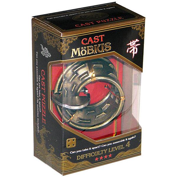 Головоломка Мобиус, Hanayama Cast PuzzleКлассические головоломки<br>Характеристики:<br><br>• возраст: от 8 лет;<br>• уровень сложности: 4;<br>• материал: металл;<br>• размер головоломки: 7х7х0,5 см;<br>• размер упаковки: 11,5х7,5х4,5 см;<br>• вес: 122 г;<br>• тип упаковки: коробка с окошком.<br><br>Лента Мёбиуса - это сложная поверхность , где передняя и задняя стороны неразличимы. В этой головоломке препятствия размещаются на поверхности и преграждают путь, как  в лабиринте. По мере продвижения вперед, передняя сторона становится задней и наоборот, оставляя игрока в недоумении. <br><br>Цель игры -  разделить на 2 части головоломку, а затем соединить их обратно в исходное положение. <br><br>Головоломка - это прекрасный инструмент для ума, вырабатывающий неординарное видение. Увлекательное занятие для детей и взрослых разнообразит досуг. Развивающие занятия стимулируют логику, пространственное мышление и тренируют мелкую моторику.<br><br>Головоломку «Мобиус», Hanayama Cast Puzzle можно приобрести в нашем интернет-магазине.<br>Ширина мм: 45; Глубина мм: 75; Высота мм: 120; Вес г: 122; Возраст от месяцев: 36; Возраст до месяцев: 2147483647; Пол: Унисекс; Возраст: Детский; SKU: 7025983;
