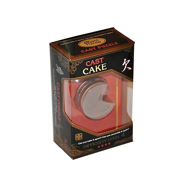 Головоломка Кекс, Hanayama Cast PuzzleКлассические головоломки<br>Характеристики:<br><br>• возраст: от 8 лет;<br>• уровень сложности: 4;<br>• материал: металл;<br>• размер головоломки: 4х4х3 см;<br>• размер упаковки: 11,5х7,5х4,5 см;<br>• вес: 120 г;<br>• тип упаковки: коробка с окошком.<br><br>Необычная головоломка похожа на пирог. Четверть этого пирога срезана и показывает три одинаковых слоя внутри. Решение кажется простым, но это только на первый взгляд. Головоломка гениально придумана, интересна, и достаточно сложна. <br><br>Цель игры -  разделить на 4 части головоломку, а затем соединить их обратно в исходное положение. <br><br>Головоломка - это прекрасный инструмент для ума, вырабатывающий неординарное видение. Увлекательное занятие для детей и взрослых разнообразит досуг. Развивающие занятия стимулируют логику, пространственное мышление и тренируют мелкую моторику.<br><br>Головоломку «Кекс», Hanayama Cast Puzzle можно приобрести в нашем интернет-магазине.<br>Ширина мм: 45; Глубина мм: 75; Высота мм: 120; Вес г: 120; Возраст от месяцев: 36; Возраст до месяцев: 2147483647; Пол: Унисекс; Возраст: Детский; SKU: 7025984;
