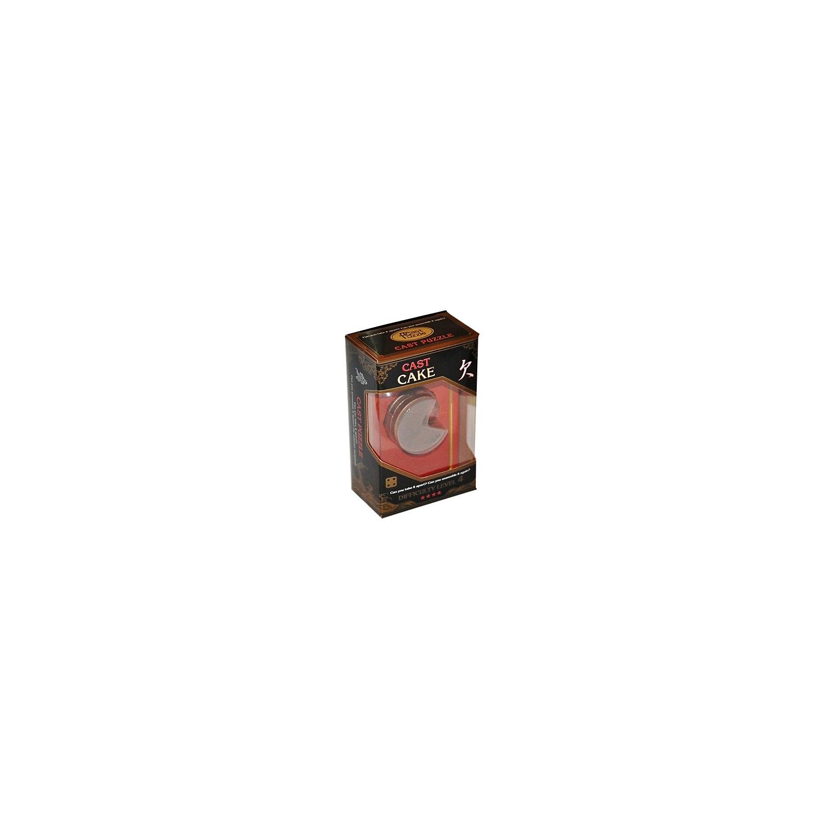 Головоломка Кекс, Hanayama Cast PuzzleЖелезные головоломки<br>Характеристики:<br><br>• возраст: от 8 лет;<br>• уровень сложности: 4;<br>• материал: металл;<br>• размер головоломки: 4х4х3 см;<br>• размер упаковки: 11,5х7,5х4,5 см;<br>• вес: 120 г;<br>• тип упаковки: коробка с окошком.<br><br>Необычная головоломка похожа на пирог. Четверть этого пирога срезана и показывает три одинаковых слоя внутри. Решение кажется простым, но это только на первый взгляд. Головоломка гениально придумана, интересна, и достаточно сложна. <br><br>Цель игры -  разделить на 4 части головоломку, а затем соединить их обратно в исходное положение. <br><br>Головоломка - это прекрасный инструмент для ума, вырабатывающий неординарное видение. Увлекательное занятие для детей и взрослых разнообразит досуг. Развивающие занятия стимулируют логику, пространственное мышление и тренируют мелкую моторику.<br><br>Головоломку «Кекс», Hanayama Cast Puzzle можно приобрести в нашем интернет-магазине.<br><br>Ширина мм: 45<br>Глубина мм: 75<br>Высота мм: 120<br>Вес г: 120<br>Возраст от месяцев: 36<br>Возраст до месяцев: 2147483647<br>Пол: Унисекс<br>Возраст: Детский<br>SKU: 7025984