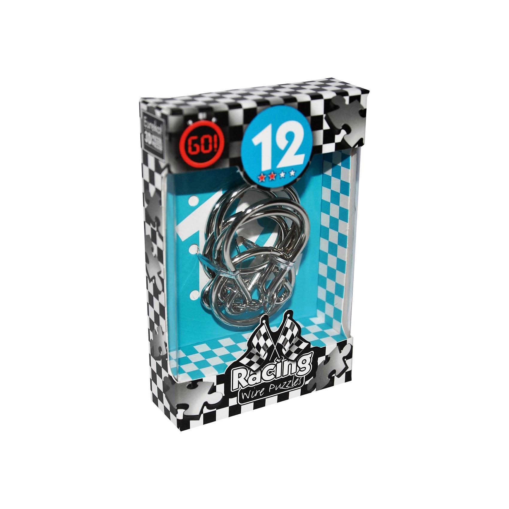 Мини головоломка, Эврика 12Железные головоломки<br>Характеристики:<br><br>• возраст: от 6 лет;<br>• уровень сложности: 2;<br>• материал: металл;<br>• размер головоломки: 7х7х0,3 см;<br>• размер упаковки: 12х8х2,5 см;<br>• вес: 77 г;<br>• тип упаковки: коробка с окошком.<br><br>Головоломка для начинающих средней сложности поможет познакомить детей с загадочным миром логических  игр и лабиринтов. Цель игры – освободить 3 кольца, а затем вернуть их обратно.<br><br>Головоломка - это прекрасный инструмент для ума, вырабатывающий неординарное видение. Увлекательное занятие для детей и взрослых разнообразит досуг. Развивающие занятия стимулируют логику, пространственное мышление и тренируют мелкую моторику.<br><br>Игрушка удобно помещается в ладони, ее можно брать с собой а прогулку или в путешествие. Рекомендуется тем, кто уже прошел 1 уровень сложности.<br><br>Мини-головоломку «Эврика 12», Eureka можно приобрести в нашем интернет-магазине.<br><br>Ширина мм: 25<br>Глубина мм: 80<br>Высота мм: 120<br>Вес г: 77<br>Возраст от месяцев: 36<br>Возраст до месяцев: 2147483647<br>Пол: Унисекс<br>Возраст: Детский<br>SKU: 7025996