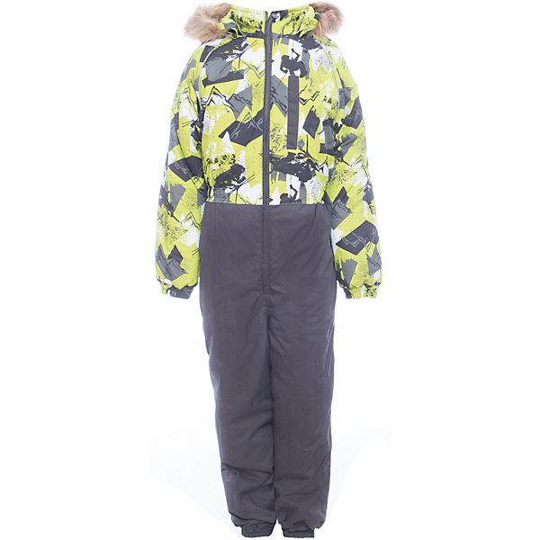Комбинезон WILLY Huppa для мальчикаВерхняя одежда<br>Характеристики товара:<br><br>• цвет: серо-зеленый<br>• сезон: зима;<br>• температурный режим: от -5 до-30;<br>• состав:  100% полиэстер;<br>• водонепроницаемость: 10000 мм;<br>• воздухопроницаемость: 10000 мм;<br>• утеплитель: 300 гр;<br>• подкладка: 100% полиэстер: тафта, флис;<br>• штрипки;<br>• капюшон крепится на кнопки, отстегивается;<br>• сидельный шов проклеен и не пропускает влагу;<br>• эластичные манжеты брюк и рукавов на резинках;<br>• застежка: молния;<br>• меховая опушка из искуственного меха.<br><br>Теплый зимний комбинезон Huppa WILLY мальчиков. У комбинезона съемный капюшон с опушкой из искусственного меха. Практичный карман на груди. Съемные штрипки на ботинок.У комбинезона Huppa WILLY имеются светоотражающие нашивки для безопасности в темное время суток. Низ рукавов и брючин собран на резинку. Для дополнительной водонепроницаемости задний шов проклеен.<br><br>Одежда Huppa не требует сложного ухода. Небольшие загрязнения легко удаляются влажной губкой, также изделия можно стирать в стиральной машине в холодной воде (30С) без использования отбеливателей и хлорсодержащих моющих средств. Перед стиркой изделие необходимо вывернуть наизнанку, закрыть все замки и крепления на липучках. Не замачивать. Не гладить. Допускается сушка изделий только при комнатной температуре.<br><br>Детский комбинезон Huppa WILLY можно купить в нашем интернет-магазине.<br>Ширина мм: 356; Глубина мм: 10; Высота мм: 245; Вес г: 519; Цвет: зеленый; Возраст от месяцев: 18; Возраст до месяцев: 24; Пол: Мужской; Возраст: Детский; Размер: 122,116,110,104,98,92,134,128; SKU: 7026895;