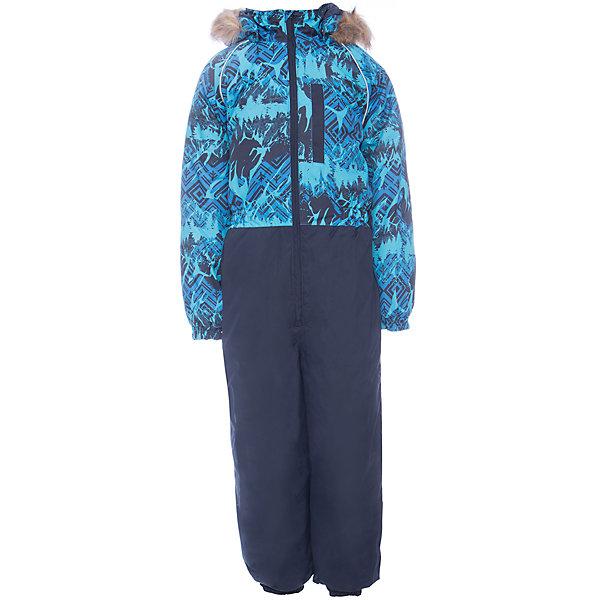 Комбинезон WILLY Huppa для мальчикаВерхняя одежда<br>Характеристики товара:<br><br>• цвет: сине-голубой<br>• сезон: зима;<br>• температурный режим: от -5 до-30;<br>• состав:  100% полиэстер;<br>• водонепроницаемость: 10000 мм;<br>• воздухопроницаемость: 10000 мм;<br>• утеплитель: 300 гр;<br>• подкладка: 100% полиэстер: тафта, флис;<br>• штрипки;<br>• капюшон крепится на кнопки, отстегивается;<br>• сидельный шов проклеен и не пропускает влагу;<br>• эластичные манжеты брюк и рукавов на резинках;<br>• застежка: молния;<br>• меховая опушка из искуственного меха.<br><br>Теплый зимний комбинезон Huppa WILLY мальчиков. У комбинезона съемный капюшон с опушкой из искусственного меха. Практичный карман на груди. Съемные штрипки на ботинок.У комбинезона Huppa WILLY имеются светоотражающие нашивки для безопасности в темное время суток. Низ рукавов и брючин собран на резинку. Для дополнительной водонепроницаемости задний шов проклеен.<br><br>Одежда Huppa не требует сложного ухода. Небольшие загрязнения легко удаляются влажной губкой, также изделия можно стирать в стиральной машине в холодной воде (30С) без использования отбеливателей и хлорсодержащих моющих средств. Перед стиркой изделие необходимо вывернуть наизнанку, закрыть все замки и крепления на липучках. Не замачивать. Не гладить. Допускается сушка изделий только при комнатной температуре.<br><br>Детский комбинезон Huppa WILLY можно купить в нашем интернет-магазине.<br><br>Ширина мм: 356<br>Глубина мм: 10<br>Высота мм: 245<br>Вес г: 519<br>Цвет: темно-синий<br>Возраст от месяцев: 18<br>Возраст до месяцев: 24<br>Пол: Мужской<br>Возраст: Детский<br>Размер: 92,110,134,128,122,116,104,98<br>SKU: 7026922