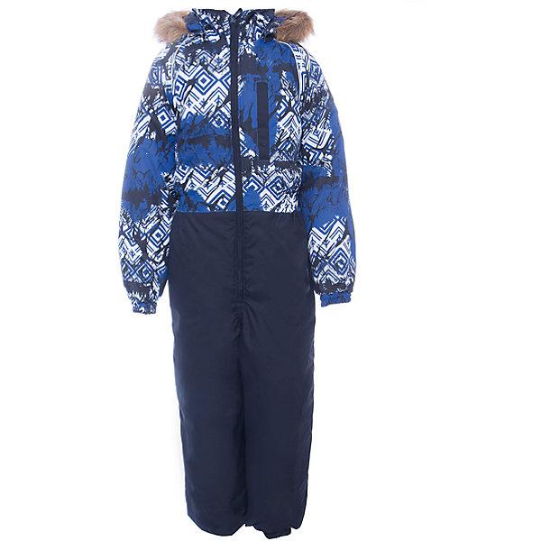 Комбинезон WILLY Huppa для мальчикаВерхняя одежда<br>Характеристики товара:<br><br>• цвет: темно-синий<br>• сезон: зима;<br>• температурный режим: от -5 до-30;<br>• состав:  100% полиэстер;<br>• водонепроницаемость: 10000 мм;<br>• воздухопроницаемость: 10000 мм;<br>• утеплитель: 300 гр;<br>• подкладка: 100% полиэстер: тафта, флис;<br>• штрипки;<br>• капюшон крепится на кнопки, отстегивается;<br>• сидельный шов проклеен и не пропускает влагу;<br>• эластичные манжеты брюк и рукавов на резинках;<br>• застежка: молния;<br>• меховая опушка из искуственного меха.<br><br>Теплый зимний комбинезон Huppa WILLY мальчиков. У комбинезона съемный капюшон с опушкой из искусственного меха. Практичный карман на груди. Съемные штрипки на ботинок.У комбинезона Huppa WILLY имеются светоотражающие нашивки для безопасности в темное время суток. Низ рукавов и брючин собран на резинку. Для дополнительной водонепроницаемости задний шов проклеен.<br><br>Одежда Huppa не требует сложного ухода. Небольшие загрязнения легко удаляются влажной губкой, также изделия можно стирать в стиральной машине в холодной воде (30С) без использования отбеливателей и хлорсодержащих моющих средств. Перед стиркой изделие необходимо вывернуть наизнанку, закрыть все замки и крепления на липучках. Не замачивать. Не гладить. Допускается сушка изделий только при комнатной температуре.<br><br>Детский комбинезон Huppa WILLY можно купить в нашем интернет-магазине.<br>Ширина мм: 356; Глубина мм: 10; Высота мм: 245; Вес г: 519; Цвет: синий/белый; Возраст от месяцев: 96; Возраст до месяцев: 108; Пол: Мужской; Возраст: Детский; Размер: 134,92,98,104,110,116,122,128; SKU: 7026931;