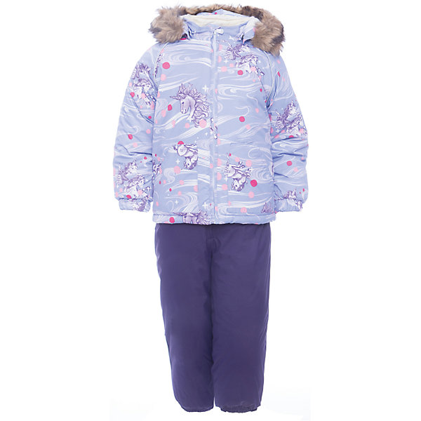 Комплект: куртка и брюки AVERY Huppa для девочкиВерхняя одежда<br>Характеристика товара:<br><br>• цвет: светло-сиреневый ;<br>• температурный режим: от -0 до-30;<br>• утеплитель: куртка:300 грамм, брюки:160 грамм(100% полиэстер);<br>• подкладка: 100% хлопок;<br>• воздухопроницаемость: 5 000 мм куртка / 10 000 мм брюки;<br>• водонепроницаемость:  5 000 мм куртка / 10 000 мм брюки;<br>• застежка: молния;<br>• меховая опушка из искуственного меха;<br>• шаговый шов – проклеен;<br>• капюшон съемный;<br>• подтяжки на полукомбинезоне – резинки;<br>• светоотражающие детали;<br>• производитель: HUPPA (Эстония)<br><br>Красивый зимний комплект AVERY для детей младшего возраста. Легкая, но очень теплая куртка из мягкой мембранной ткани не содержит лишних деталей. В модели 300 грамм утеплителя, а значит, вы можете быть уверены, что ваш малыш не замерзнет на прогулке в морозную погоду, даже если будет двигаться не слишком активно. Комплект для малышей AVERY благодаря простым манжетам на резинке и удобной молнии легко надевать и застегивать. Капюшон с меховой опушкой сделан в форме забавного колпачка и при желании отстегивается. <br><br>Практичный однотонный полукомбинезон темного цвета выполнен из более прочной мембраны и скроен без внутренних швов, для лучшей защиты от истирания и попадания влаги. Задний шов проклеен, также для дополнительной защиты от влаги. Манжеты по низу брюк и тканевые штрипки на ботинки надежно фиксируют брюки и защищают от попадания снега. На костюмах AVERY светоотражающие элементы делают вашего ребенка более заметным на улице, даже в условиях плохой видимости и в темное время суток.<br><br>Комплект для малышей AVERY можно купить в нашем интернет-магазине.<br>Ширина мм: 356; Глубина мм: 10; Высота мм: 245; Вес г: 519; Цвет: лиловый; Возраст от месяцев: 36; Возраст до месяцев: 48; Пол: Женский; Возраст: Детский; Размер: 104,80,86,92,98; SKU: 7026940;