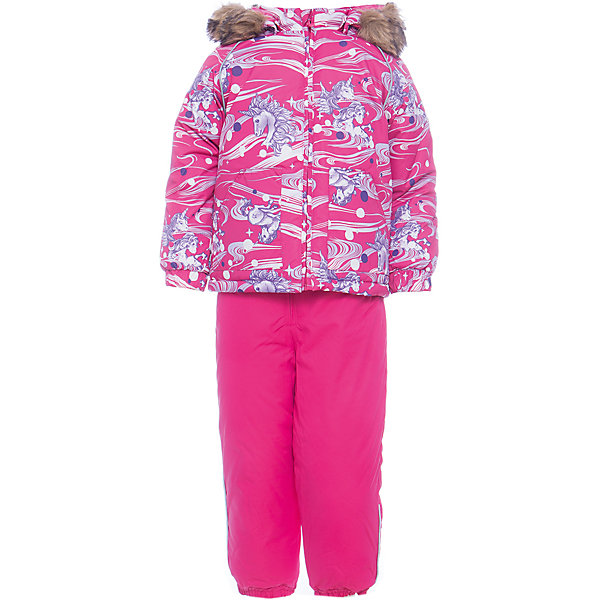 Комплект: куртка и брюки AVERY Huppa для девочкиКомплекты<br>Характеристика товара:<br><br>• цвет:фуксия<br>• температурный режим: от -0 до-30;<br>• утеплитель: куртка:300 грамм, брюки:160 грамм(100% полиэстер);<br>• подкладка: 100% хлопок;<br>• воздухопроницаемость: 5 000 мм куртка / 10 000 мм брюки;<br>• водонепроницаемость:  5 000 мм куртка / 10 000 мм брюки;<br>• застежка: молния;<br>• меховая опушка из искуственного меха;<br>• шаговый шов – проклеен;<br>• капюшон съемный;<br>• подтяжки на полукомбинезоне – резинки;<br>• светоотражающие детали;<br>• производитель: HUPPA (Эстония)<br><br>Красивый зимний комплект AVERY для детей младшего возраста. Легкая, но очень теплая куртка из мягкой мембранной ткани не содержит лишних деталей. В модели 300 грамм утеплителя, а значит, вы можете быть уверены, что ваш малыш не замерзнет на прогулке в морозную погоду, даже если будет двигаться не слишком активно. Комплект для малышей AVERY благодаря простым манжетам на резинке и удобной молнии легко надевать и застегивать. Капюшон с меховой опушкой сделан в форме забавного колпачка и при желании отстегивается. <br><br>Практичный однотонный полукомбинезон темного цвета выполнен из более прочной мембраны и скроен без внутренних швов, для лучшей защиты от истирания и попадания влаги. Задний шов проклеен, также для дополнительной защиты от влаги. Манжеты по низу брюк и тканевые штрипки на ботинки надежно фиксируют брюки и защищают от попадания снега. На костюмах AVERY светоотражающие элементы делают вашего ребенка более заметным на улице, даже в условиях плохой видимости и в темное время суток.<br><br>Комплект для малышей AVERY можно купить в нашем интернет-магазине.<br>Ширина мм: 356; Глубина мм: 10; Высота мм: 245; Вес г: 519; Цвет: фуксия; Возраст от месяцев: 12; Возраст до месяцев: 15; Пол: Женский; Возраст: Детский; Размер: 80,104,98,92,86; SKU: 7026946;