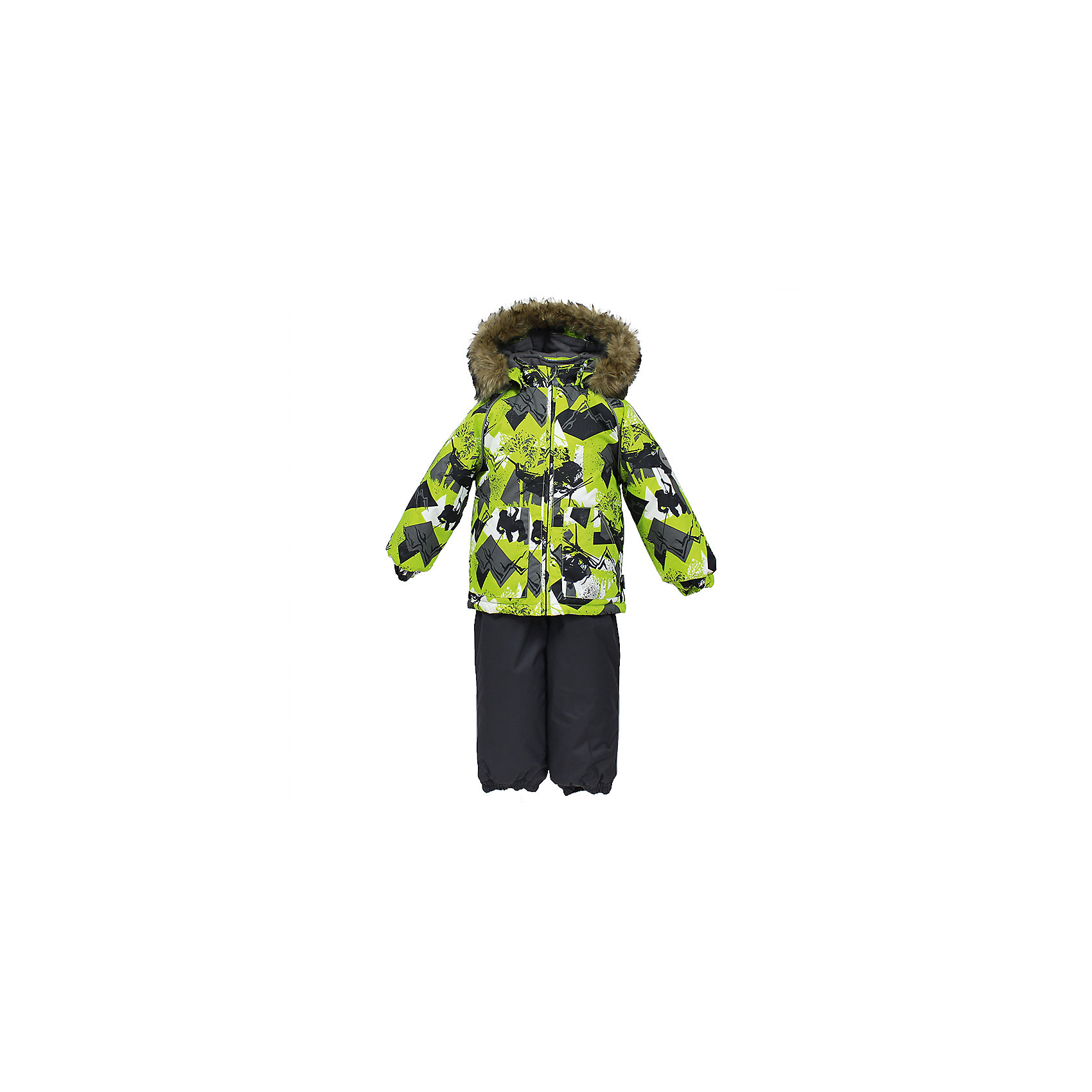 Комплект: куртка и брюки AVERY HuppaКомплекты<br>Комплект для малышей  AVERY.Водо и воздухонепроницаемость 10 000 . Утеплитель 300 гр куртка/160 гр брюки. Подкладка фланель 100% хлопок.Отстегивающийся капюшон с мехом.Манжеты рукавов на резинке. Манжеты брюк на резинке.Добавлены петли для ступней.Резиновые подтяжки.Имеются светоотражательные элементы.<br>Состав:<br>100% Полиэстер<br><br>Ширина мм: 356<br>Глубина мм: 10<br>Высота мм: 245<br>Вес г: 519<br>Цвет: зеленый<br>Возраст от месяцев: 36<br>Возраст до месяцев: 48<br>Пол: Унисекс<br>Возраст: Детский<br>Размер: 104,80,86,92,98<br>SKU: 7026994