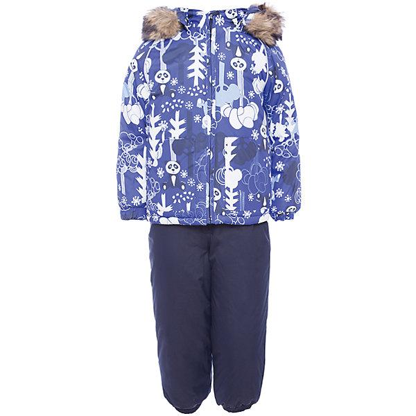Комплект: куртка и брюки AVERY Huppa для мальчикаКомплекты<br>Характеристика товара:<br><br>• цвет: голубой с принтом<br>• температурный режим: от -0 до-30;<br>• утеплитель: куртка:300 грамм, брюки:160 грамм(100% полиэстер);<br>• подкладка: 100% хлопок;<br>• воздухопроницаемость: 5 000 мм куртка / 10 000 мм брюки;<br>• водонепроницаемость:  5 000 мм куртка / 10 000 мм брюки;<br>• застежка: молния;<br>• меховая опушка из искуственного меха;<br>• шаговый шов – проклеен;<br>• капюшон съемный;<br>• подтяжки на полукомбинезоне – резинки;<br>• светоотражающие детали;<br>• производитель: HUPPA (Эстония)<br><br>Красивый зимний комплект AVERY для детей младшего возраста. Легкая, но очень теплая куртка из мягкой мембранной ткани не содержит лишних деталей. В модели 300 грамм утеплителя, а значит, вы можете быть уверены, что ваш малыш не замерзнет на прогулке в морозную погоду, даже если будет двигаться не слишком активно. Комплект для малышей AVERY благодаря простым манжетам на резинке и удобной молнии легко надевать и застегивать. Капюшон с меховой опушкой сделан в форме забавного колпачка и при желании отстегивается. <br><br>Практичный однотонный полукомбинезон темного цвета выполнен из более прочной мембраны и скроен без внутренних швов, для лучшей защиты от истирания и попадания влаги. Задний шов проклеен, также для дополнительной защиты от влаги. Манжеты по низу брюк и тканевые штрипки на ботинки надежно фиксируют брюки и защищают от попадания снега. На костюмах AVERY светоотражающие элементы делают вашего ребенка более заметным на улице, даже в условиях плохой видимости и в темное время суток.<br><br>Комплект для малышей AVERY можно купить в нашем интернет-магазине.<br>Ширина мм: 356; Глубина мм: 10; Высота мм: 245; Вес г: 519; Цвет: синий; Возраст от месяцев: 12; Возраст до месяцев: 15; Пол: Мужской; Возраст: Детский; Размер: 80,104,98,92,86; SKU: 7027018;
