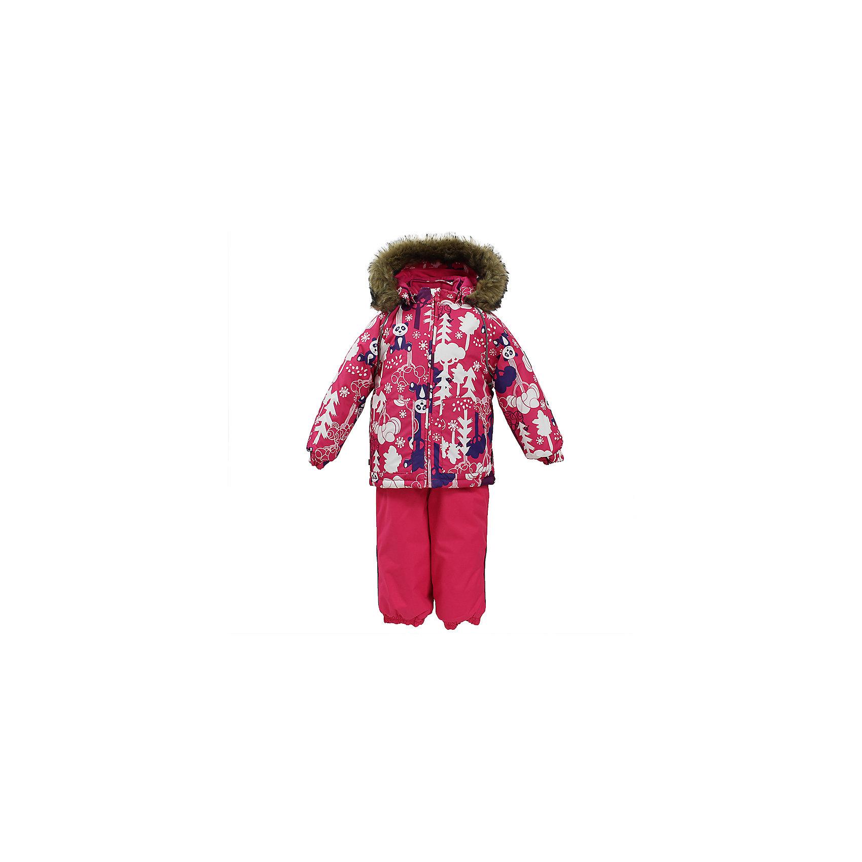 Комплект: куртка и брюки AVERY HuppaВерхняя одежда<br>Характеристика товара:<br><br>• цвет: фуксия с принтом<br>• температурный режим: от -0 до-30;<br>• утеплитель: куртка:300 грамм, брюки:160 грамм(100% полиэстер);<br>• подкладка: 100% хлопок;<br>• воздухопроницаемость: 5 000 мм куртка / 10 000 мм брюки;<br>• водонепроницаемость:  5 000 мм куртка / 10 000 мм брюки;<br>• застежка: молния;<br>• меховая опушка из искуственного меха;<br>• шаговый шов – проклеен;<br>• капюшон съемный;<br>• подтяжки на полукомбинезоне – резинки;<br>• светоотражающие детали;<br>• производитель: HUPPA (Эстония)<br><br>Красивый зимний комплект AVERY для детей младшего возраста. Легкая, но очень теплая куртка из мягкой мембранной ткани не содержит лишних деталей. В модели 300 грамм утеплителя, а значит, вы можете быть уверены, что ваш малыш не замерзнет на прогулке в морозную погоду, даже если будет двигаться не слишком активно. Комплект для малышей AVERY благодаря простым манжетам на резинке и удобной молнии легко надевать и застегивать. Капюшон с меховой опушкой сделан в форме забавного колпачка и при желании отстегивается. <br><br>Практичный однотонный полукомбинезон темного цвета выполнен из более прочной мембраны и скроен без внутренних швов, для лучшей защиты от истирания и попадания влаги. Задний шов проклеен, также для дополнительной защиты от влаги. Манжеты по низу брюк и тканевые штрипки на ботинки надежно фиксируют брюки и защищают от попадания снега. На костюмах AVERY светоотражающие элементы делают вашего ребенка более заметным на улице, даже в условиях плохой видимости и в темное время суток.<br><br>Комплект для малышей AVERY можно купить в нашем интернет-магазине.<br><br>Ширина мм: 356<br>Глубина мм: 10<br>Высота мм: 245<br>Вес г: 519<br>Цвет: фуксия<br>Возраст от месяцев: 36<br>Возраст до месяцев: 48<br>Пол: Унисекс<br>Возраст: Детский<br>Размер: 104,86,80,92,98<br>SKU: 7027030