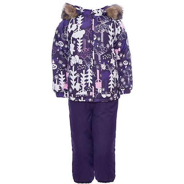 Комплект: куртка и брюки AVERY Huppa для девочкиВерхняя одежда<br>Характеристика товара:<br><br>• цвет: фиолетовый с принтом<br>• температурный режим: от -0 до-30;<br>• утеплитель: куртка:300 грамм, брюки:160 грамм(100% полиэстер);<br>• подкладка: 100% хлопок;<br>• воздухопроницаемость: 5 000 мм куртка / 10 000 мм брюки;<br>• водонепроницаемость:  5 000 мм куртка / 10 000 мм брюки;<br>• застежка: молния;<br>• меховая опушка из искуственного меха;<br>• шаговый шов – проклеен;<br>• капюшон съемный;<br>• подтяжки на полукомбинезоне – резинки;<br>• светоотражающие детали;<br>• производитель: HUPPA (Эстония)<br><br>Красивый зимний комплект AVERY для детей младшего возраста. Легкая, но очень теплая куртка из мягкой мембранной ткани не содержит лишних деталей. В модели 300 грамм утеплителя, а значит, вы можете быть уверены, что ваш малыш не замерзнет на прогулке в морозную погоду, даже если будет двигаться не слишком активно. Комплект для малышей AVERY благодаря простым манжетам на резинке и удобной молнии легко надевать и застегивать. Капюшон с меховой опушкой сделан в форме забавного колпачка и при желании отстегивается. <br><br>Практичный однотонный полукомбинезон темного цвета выполнен из более прочной мембраны и скроен без внутренних швов, для лучшей защиты от истирания и попадания влаги. Задний шов проклеен, также для дополнительной защиты от влаги. Манжеты по низу брюк и тканевые штрипки на ботинки надежно фиксируют брюки и защищают от попадания снега. На костюмах AVERY светоотражающие элементы делают вашего ребенка более заметным на улице, даже в условиях плохой видимости и в темное время суток.<br><br>Комплект для малышей AVERY можно купить в нашем интернет-магазине.<br>Ширина мм: 356; Глубина мм: 10; Высота мм: 245; Вес г: 519; Цвет: лиловый; Возраст от месяцев: 12; Возраст до месяцев: 15; Пол: Женский; Возраст: Детский; Размер: 80,104,98,92,86; SKU: 7027036;