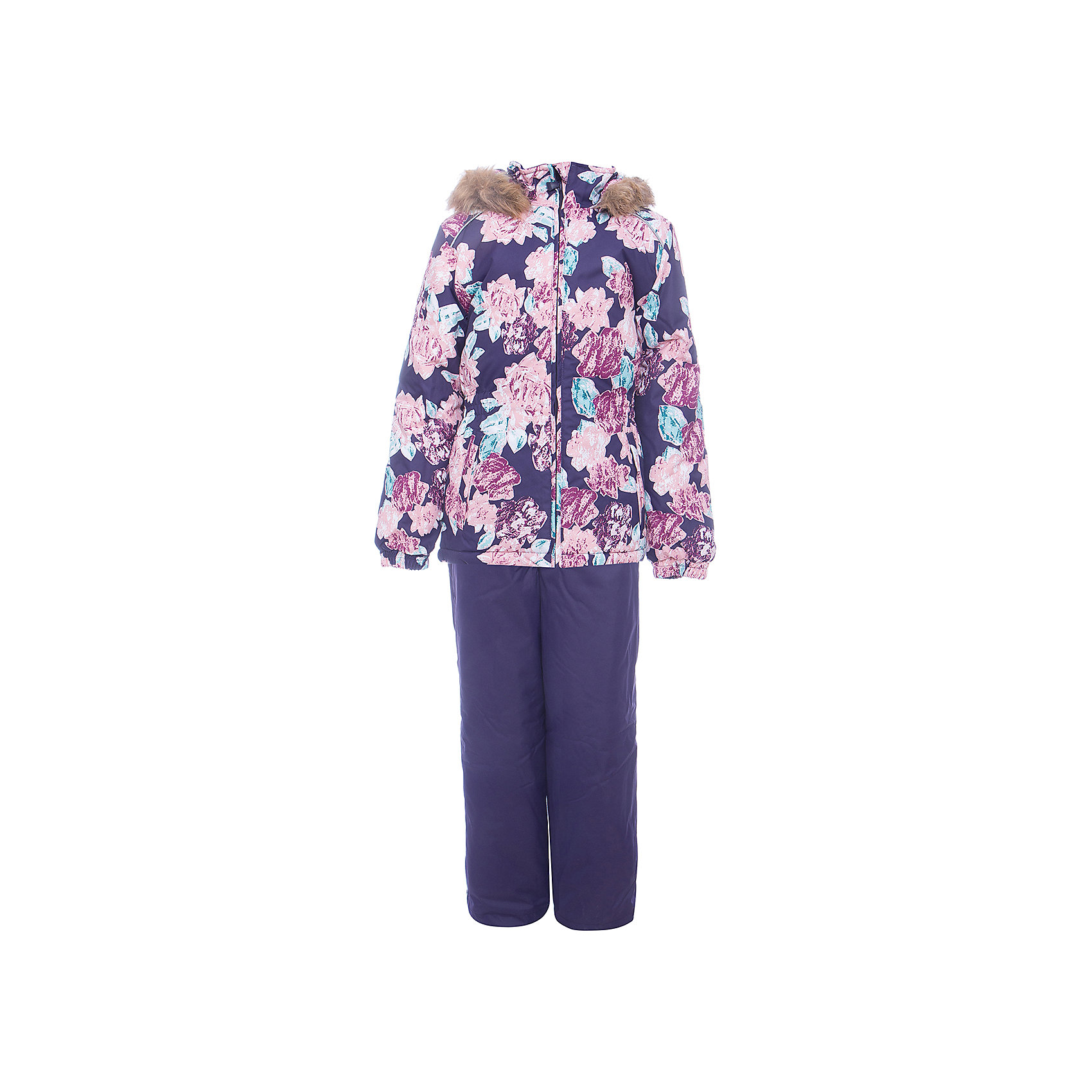 Комплект: куртка и брюки WONDER Huppa для девочкиВерхняя одежда<br>Характеристики товара:<br><br>• цвет: фиолетовый;<br>• пол: девочка;<br>• состав: 100% полиэстер;<br>• утеплитель: 300 гр куртка / 160гр полукомбинезон;<br>• подкладка: тафта, флис;<br>• сезон: зима;<br>• температурный режим: от -5 до - 30С;<br>• водонепроницаемость: 10000 мм ;<br>• воздухопроницаемость: 10000 г/м2/24ч;<br>• особенности модели: c рисунком; с мехом на капюшоне;<br>• сидельный шов проклеен и не пропускает влагу;<br>• манжеты рукавов эластичные, на резинках;<br>• низ брюк затягивается на шнурок с фиксатором;<br>• внутренние снегозащитные манжеты на штанинах;<br>• полукомбинезон с высокой грудкой, внутренние швы отсутствуют;<br>• эластичные подтяжки регулируются по длине;<br>• безопасный капюшон крепится на кнопки и, при необходимости, отстегивается;<br>• мех на капюшоне не съемный;<br>• светоотражающие элементы для безопасности ребенка;<br>• страна бренда: Финляндия;<br>• страна изготовитель: Эстония.<br><br>Зимний комплект Хуппа – превосходный наряд для современной девочки на осенне-зимний период. <br><br>Комплект Wonder состоит из куртки и полукомбинезона. Обе составляющие комплекта снабжены вшитыми эластичными поясками-резинками, обеспечивающими безупречную посадку одежды по фигуре. Комплект отличается повышенной комфортностью. Внутри его обрамляет мягкая тафта. Внутренняя поверхность манжет и воротника отделана флисом. Капюшон оторочен пушистым искусственным мехом. В брючинах спрятана снегозащита. У полукомбинезона отсутствуют внутренние швы. Для лучшей герметизации полукомбинезона основные швы выполнены проклеенными.<br><br>Зимний комплект Wonder для девочки фирмы HUPPA  можно купить в нашем интернет-магазине.<br><br>Ширина мм: 356<br>Глубина мм: 10<br>Высота мм: 245<br>Вес г: 519<br>Цвет: черный<br>Возраст от месяцев: 108<br>Возраст до месяцев: 120<br>Пол: Женский<br>Возраст: Детский<br>Размер: 140,92,98,104,110,116,122,128,134<br>SKU: 7027048