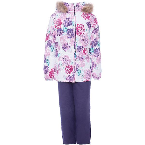 Комплект: куртка и брюки WONDER Huppa для девочкиВерхняя одежда<br>Характеристики товара:<br><br>• цвет: белый с принтом / фиолетовый;<br>• пол: девочка;<br>• состав: 100% полиэстер;<br>• утеплитель: 300 гр куртка / 160гр полукомбинезон;<br>• подкладка: тафта, флис;<br>• сезон: зима;<br>• температурный режим: от -5 до - 30С;<br>• водонепроницаемость: 10000 мм ;<br>• воздухопроницаемость: 10000 г/м2/24ч;<br>• особенности модели: c рисунком; с мехом на капюшоне;<br>• сидельный шов проклеен и не пропускает влагу;<br>• манжеты рукавов эластичные, на резинках;<br>• низ брюк затягивается на шнурок с фиксатором;<br>• внутренние снегозащитные манжеты на штанинах;<br>• полукомбинезон с высокой грудкой, внутренние швы отсутствуют;<br>• эластичные подтяжки регулируются по длине;<br>• безопасный капюшон крепится на кнопки и, при необходимости, отстегивается;<br>• мех на капюшоне не съемный;<br>• светоотражающие элементы для безопасности ребенка;<br>• страна бренда: Финляндия;<br>• страна изготовитель: Эстония.<br><br>Зимний комплект Хуппа – превосходный наряд для современной девочки на осенне-зимний период. <br><br>Комплект Wonder состоит из куртки и полукомбинезона. Обе составляющие комплекта снабжены вшитыми эластичными поясками-резинками, обеспечивающими безупречную посадку одежды по фигуре. Комплект отличается повышенной комфортностью. Внутри его обрамляет мягкая тафта. Внутренняя поверхность манжет и воротника отделана флисом. Капюшон оторочен пушистым искусственным мехом. В брючинах спрятана снегозащита. У полукомбинезона отсутствуют внутренние швы. Для лучшей герметизации полукомбинезона основные швы выполнены проклеенными.<br><br>Зимний комплект Wonder для девочки фирмы HUPPA  можно купить в нашем интернет-магазине.<br>Ширина мм: 356; Глубина мм: 10; Высота мм: 245; Вес г: 519; Цвет: фиолетово-розовый; Возраст от месяцев: 60; Возраст до месяцев: 72; Пол: Женский; Возраст: Детский; Размер: 116,98,92,110,104,140,134,128,122; SKU: 7027058;