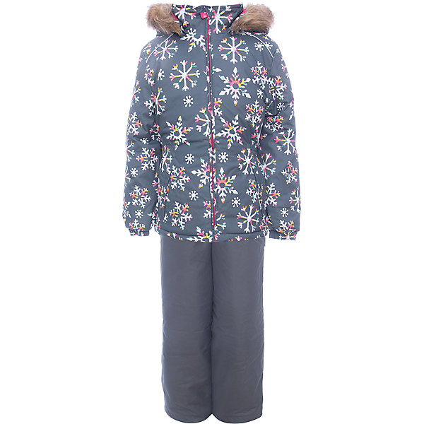 Купить Комплект: куртка и брюки WONDER Huppa для девочки, Эстония, серый, 92, 104, 98, 140, 134, 128, 122, 116, 110, Женский