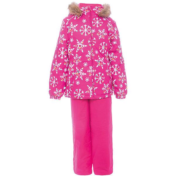 Комплект: куртка и брюки WONDER Huppa для девочкиВерхняя одежда<br>Характеристики товара:<br><br>• цвет: фуксия;<br>• пол: девочка;<br>• состав: 100% полиэстер;<br>• утеплитель: 300 гр куртка / 160гр полукомбинезон;<br>• подкладка: тафта, флис;<br>• сезон: зима;<br>• температурный режим: от -5 до - 30С;<br>• водонепроницаемость: 10000 мм ;<br>• воздухопроницаемость: 10000 г/м2/24ч;<br>• особенности модели: c рисунком; с мехом на капюшоне;<br>• сидельный шов проклеен и не пропускает влагу;<br>• манжеты рукавов эластичные, на резинках;<br>• низ брюк затягивается на шнурок с фиксатором;<br>• внутренние снегозащитные манжеты на штанинах;<br>• полукомбинезон с высокой грудкой, внутренние швы отсутствуют;<br>• эластичные подтяжки регулируются по длине;<br>• безопасный капюшон крепится на кнопки и, при необходимости, отстегивается;<br>• мех на капюшоне не съемный;<br>• светоотражающие элементы для безопасности ребенка;<br>• страна бренда: Финляндия;<br>• страна изготовитель: Эстония.<br><br>Зимний комплект Хуппа – превосходный наряд для современной девочки на осенне-зимний период. <br><br>Комплект Wonder состоит из куртки и полукомбинезона. Обе составляющие комплекта снабжены вшитыми эластичными поясками-резинками, обеспечивающими безупречную посадку одежды по фигуре. Комплект отличается повышенной комфортностью. Внутри его обрамляет мягкая тафта. Внутренняя поверхность манжет и воротника отделана флисом. Капюшон оторочен пушистым искусственным мехом. В брючинах спрятана снегозащита. У полукомбинезона отсутствуют внутренние швы. Для лучшей герметизации полукомбинезона основные швы выполнены проклеенными.<br><br>Зимний комплект Wonder для девочки фирмы HUPPA  можно купить в нашем интернет-магазине.<br><br>Ширина мм: 356<br>Глубина мм: 10<br>Высота мм: 245<br>Вес г: 519<br>Цвет: фуксия<br>Возраст от месяцев: 18<br>Возраст до месяцев: 24<br>Пол: Женский<br>Возраст: Детский<br>Размер: 92,140,134,128,122,116,110,104,98<br>SKU: 7027118