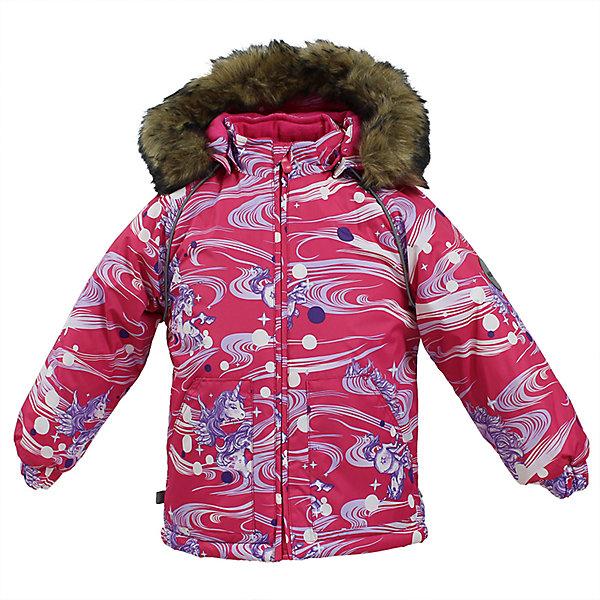 Куртка VIRGO Huppa для девочкиВерхняя одежда<br>Характеристики товара:<br><br>• цвет: фуксия;<br>• пол: девочка;<br>• состав: 100% полиэстер;<br>• утеплитель: полиэстер 300 гр.;<br>• подкладка: фланель 100% хлопок;<br>• сезон: зима;<br>• температурный режим: от -5 до - 30С;<br>• водонепроницаемость: 5000 мм ;<br>• воздухопроницаемость:5000 г/м2/24ч;<br>• особенности модели: c рисунком; с мехом на капюшоне;<br>• манжеты рукавов эластичные, на резинках;<br>• безопасный капюшон крепится на кнопки и, при необходимости, отстегивается;<br>• мех на капюшоне не съемный;<br>• светоотражающие элементы для безопасности ребенка;<br>• страна бренда: Финляндия;<br>• страна изготовитель: Эстония.<br><br>Зимняя куртка с капюшоном для девочки. Все швы проклеены и водонепроницаемы, а сама она изготовлена из водо и ветронепроницаемого, грязеотталкивающего материала.<br><br>Съемный капюшон защищает от ветра, к тому же он абсолютно безопасен – легко отстегнется, если вдруг за что-нибудь зацепится. Обратите внимание: куртку можно сушить в сушильной машине. Зимняя куртка на молнии для девочки декорирована рисунком.<br><br>Зимнюю куртку Virgo для девочки фирмы HUPPA  можно купить в нашем интернет-магазине.<br>Ширина мм: 356; Глубина мм: 10; Высота мм: 245; Вес г: 519; Цвет: фуксия; Возраст от месяцев: 36; Возраст до месяцев: 48; Пол: Женский; Возраст: Детский; Размер: 104,80,86,92,98; SKU: 7027204;