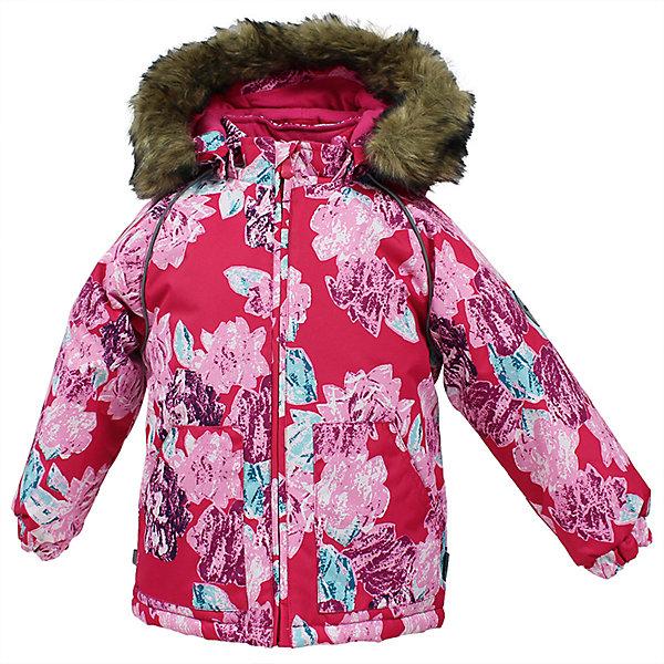 Куртка VIRGO Huppa для девочкиВерхняя одежда<br>Характеристики товара:<br><br>• цвет: розовый;<br>• пол: девочка;<br>• состав: 100% полиэстер;<br>• утеплитель: полиэстер 300 гр.;<br>• подкладка: фланель 100% хлопок;<br>• сезон: зима;<br>• температурный режим: от -5 до - 30С;<br>• водонепроницаемость: 10000 мм ;<br>• воздухопроницаемость:10000 г/м2/24ч;<br>• особенности модели: c рисунком; с мехом на капюшоне;<br>• манжеты рукавов эластичные, на резинках;<br>• безопасный капюшон крепится на кнопки и, при необходимости, отстегивается;<br>• мех на капюшоне не съемный;<br>• светоотражающие элементы для безопасности ребенка;<br>• страна бренда: Финляндия;<br>• страна изготовитель: Эстония.<br><br>Зимняя куртка с капюшоном для девочки. Все швы проклеены и водонепроницаемы, а сама она изготовлена из водо и ветронепроницаемого, грязеотталкивающего материала.<br><br>Съемный капюшон защищает от ветра, к тому же он абсолютно безопасен – легко отстегнется, если вдруг за что-нибудь зацепится. Обратите внимание: куртку можно сушить в сушильной машине. Зимняя куртка на молнии для девочки декорирована рисунком.<br><br>Зимнюю куртку Virgo для девочки фирмы HUPPA  можно купить в нашем интернет-магазине.<br>Ширина мм: 356; Глубина мм: 10; Высота мм: 245; Вес г: 519; Цвет: фуксия; Возраст от месяцев: 12; Возраст до месяцев: 15; Пол: Женский; Возраст: Детский; Размер: 80,104,98,92,86; SKU: 7027216;