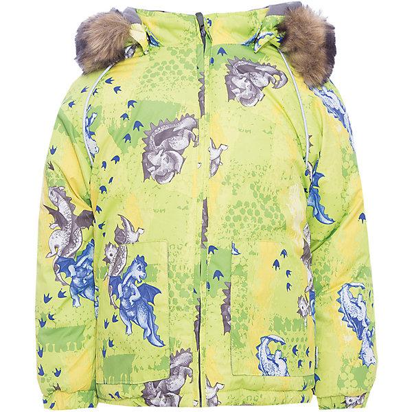 Куртка VIRGO Huppa для мальчикаВерхняя одежда<br>Характеристики товара:<br><br>• цвет: зеленый;<br>• пол: мальчик;<br>• состав: 100% полиэстер;<br>• утеплитель: полиэстер 300 гр .;<br>• подкладка: фланель 100% хлопок;<br>• сезон: зима;<br>• температурный режим: от -5 до - 30С;<br>• водонепроницаемость: 5000 мм ;<br>• воздухопроницаемость: 5000 г/м2/24ч;<br>• особенности модели: c рисунком; с мехом на капюшоне;<br>• манжеты рукавов эластичные, на резинках;<br>• безопасный капюшон крепится на кнопки, при необходимости, отстегивается;<br>• мех на капюшоне не съемный;<br>• светоотражающие элементы для безопасности ребенка;<br>• страна бренда: Финляндия;<br>• страна изготовитель: Эстония.<br><br>Зимняя куртка с капюшоном для мальчика. Все швы проклеены и водонепроницаемы, а сама она изготовлена из водо и ветронепроницаемого, грязеотталкивающего материала.<br><br>Съемный капюшон защищает от ветра, к тому же он абсолютно безопасен – легко отстегнется, если вдруг за что-нибудь зацепится. Обратите внимание: куртку можно сушить в сушильной машине. Зимняя куртка на молнии для мальчика декорирована рисунком.<br><br>Зимнюю куртку Virgo для мальчика фирмы HUPPA  можно купить в нашем интернет-магазине.<br>Ширина мм: 356; Глубина мм: 10; Высота мм: 245; Вес г: 519; Цвет: зеленый; Возраст от месяцев: 12; Возраст до месяцев: 15; Пол: Мужской; Возраст: Детский; Размер: 80,104,98,92,86; SKU: 7027240;