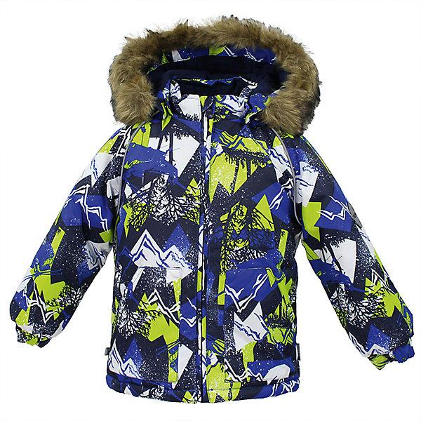 Куртка VIRGO Huppa для мальчикаВерхняя одежда<br>Характеристики товара:<br><br>• цвет: синий;<br>• пол: мальчик;<br>• состав: 100% полиэстер;<br>• утеплитель: полиэстер 300 гр .;<br>• подкладка: фланель 100% хлопок;<br>• сезон: зима;<br>• температурный режим: от -5 до - 30С;<br>• водонепроницаемость: 10000 мм ;<br>• воздухопроницаемость: 10000 г/м2/24ч;<br>• особенности модели: c рисунком; с мехом на капюшоне;<br>• манжеты рукавов эластичные, на резинках;<br>• безопасный капюшон крепится на кнопки и, при необходимости, отстегивается;<br>• мех на капюшоне не съемный;<br>• светоотражающие элементы для безопасности ребенка;<br>• страна бренда: Финляндия;<br>• страна изготовитель: Эстония.<br><br>Зимняя куртка с капюшоном для мальчика. Все швы проклеены и водонепроницаемы, а сама она изготовлена из водо и ветронепроницаемого, грязеотталкивающего материала.<br><br>Съемный капюшон защищает от ветра, к тому же он абсолютно безопасен – легко отстегнется, если вдруг за что-нибудь зацепится. Обратите внимание: куртку можно сушить в сушильной машине. Зимняя куртка на молнии для мальчика декорирована рисунком.<br><br>Зимнюю куртку Virgo для мальчика фирмы HUPPA  можно купить в нашем интернет-магазине.<br><br>Ширина мм: 356<br>Глубина мм: 10<br>Высота мм: 245<br>Вес г: 519<br>Цвет: синий<br>Возраст от месяцев: 24<br>Возраст до месяцев: 36<br>Пол: Мужской<br>Возраст: Детский<br>Размер: 98,86,80,92,104<br>SKU: 7027246