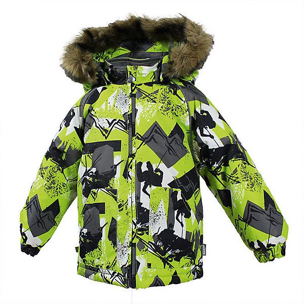 Куртка VIRGO Huppa для мальчикаЗимние куртки<br>Характеристики товара:<br><br>• цвет: зеленый;<br>• пол: мальчик;<br>• состав: 100% полиэстер;<br>• утеплитель: полиэстер 300 гр .;<br>• подкладка: фланель 100% хлопок;<br>• сезон: зима;<br>• температурный режим: от -5 до - 30С;<br>• водонепроницаемость: 10000 мм ;<br>• воздухопроницаемость: 10000 г/м2/24ч;<br>• особенности модели: c рисунком; с мехом на капюшоне;<br>• манжеты рукавов эластичные, на резинках;<br>• безопасный капюшон крепится на кнопки и, при необходимости, отстегивается;<br>• мех на капюшоне не съемный;<br>• светоотражающие элементы для безопасности ребенка;<br>• страна бренда: Финляндия;<br>• страна изготовитель: Эстония.<br><br>Зимняя куртка с капюшоном для мальчика. Все швы проклеены и водонепроницаемы, а сама она изготовлена из водо и ветронепроницаемого, грязеотталкивающего материала.<br><br>Съемный капюшон защищает от ветра, к тому же он абсолютно безопасен – легко отстегнется, если вдруг за что-нибудь зацепится. Обратите внимание: куртку можно сушить в сушильной машине. Зимняя куртка на молнии для мальчика декорирована рисунком.<br><br>Зимнюю куртку Virgo для мальчика фирмы HUPPA  можно купить в нашем интернет-магазине.<br><br>Ширина мм: 356<br>Глубина мм: 10<br>Высота мм: 245<br>Вес г: 519<br>Цвет: зеленый<br>Возраст от месяцев: 36<br>Возраст до месяцев: 48<br>Пол: Мужской<br>Возраст: Детский<br>Размер: 104,80,86,92,98<br>SKU: 7027252