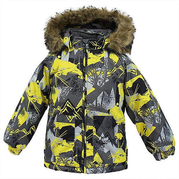 Куртка VIRGO HuppaВерхняя одежда<br>Характеристики товара:<br><br>• цвет: серый;<br>• пол: мальчик;<br>• состав: 100% полиэстер;<br>• утеплитель: полиэстер 300 гр .;<br>• подкладка: фланель 100% хлопок;<br>• сезон: зима;<br>• температурный режим: от -5 до - 30С;<br>• водонепроницаемость: 10000 мм ;<br>• воздухопроницаемость: 10000 г/м2/24ч;<br>• особенности модели: c рисунком; с мехом на капюшоне;<br>• манжеты рукавов эластичные, на резинках;<br>• безопасный капюшон крепится на кнопки и, при необходимости, отстегивается;<br>• мех на капюшоне не съемный;<br>• светоотражающие элементы для безопасности ребенка;<br>• страна бренда: Финляндия;<br>• страна изготовитель: Эстония.<br><br>Зимняя куртка с капюшоном для мальчика. Все швы проклеены и водонепроницаемы, а сама она изготовлена из водо и ветронепроницаемого, грязеотталкивающего материала.<br><br>Съемный капюшон защищает от ветра, к тому же он абсолютно безопасен – легко отстегнется, если вдруг за что-нибудь зацепится. Обратите внимание: куртку можно сушить в сушильной машине. Зимняя куртка на молнии для мальчика декорирована рисунком.<br><br>Зимнюю куртку Virgo для мальчика фирмы HUPPA  можно купить в нашем интернет-магазине.<br><br>Ширина мм: 356<br>Глубина мм: 10<br>Высота мм: 245<br>Вес г: 519<br>Цвет: серый<br>Возраст от месяцев: 12<br>Возраст до месяцев: 15<br>Пол: Мужской<br>Возраст: Детский<br>Размер: 80,104,98,92,86<br>SKU: 7027258
