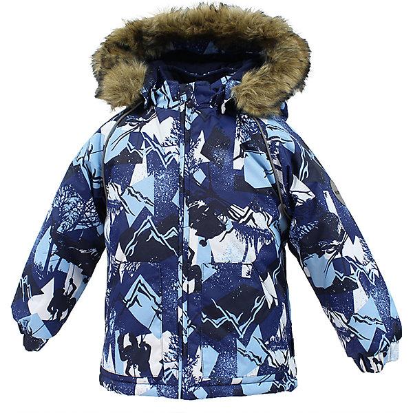Куртка VIRGO HuppaВерхняя одежда<br>Характеристики товара:<br><br>• цвет: синий;<br>• пол: мальчик;<br>• состав: 100% полиэстер;<br>• утеплитель: полиэстер 300 гр .;<br>• подкладка: фланель 100% хлопок;<br>• сезон: зима;<br>• температурный режим: от -5 до - 30С;<br>• водонепроницаемость: 10000 мм ;<br>• воздухопроницаемость: 10000 г/м2/24ч;<br>• особенности модели: c рисунком; с мехом на капюшоне;<br>• манжеты рукавов эластичные, на резинках;<br>• безопасный капюшон крепится на кнопки и, при необходимости, отстегивается;<br>• мех на капюшоне не съемный;<br>• светоотражающие элементы для безопасности ребенка;<br>• страна бренда: Финляндия;<br>• страна изготовитель: Эстония.<br><br>Зимняя куртка с капюшоном для мальчика. Все швы проклеены и водонепроницаемы, а сама она изготовлена из водо и ветронепроницаемого, грязеотталкивающего материала.<br><br>Съемный капюшон защищает от ветра, к тому же он абсолютно безопасен – легко отстегнется, если вдруг за что-нибудь зацепится. Обратите внимание: куртку можно сушить в сушильной машине. Зимняя куртка на молнии для мальчика декорирована рисунком.<br><br>Зимнюю куртку Virgo для мальчика фирмы HUPPA  можно купить в нашем интернет-магазине.<br><br>Ширина мм: 356<br>Глубина мм: 10<br>Высота мм: 245<br>Вес г: 519<br>Цвет: синий<br>Возраст от месяцев: 12<br>Возраст до месяцев: 15<br>Пол: Мужской<br>Возраст: Детский<br>Размер: 80,104,98,92,86<br>SKU: 7027264